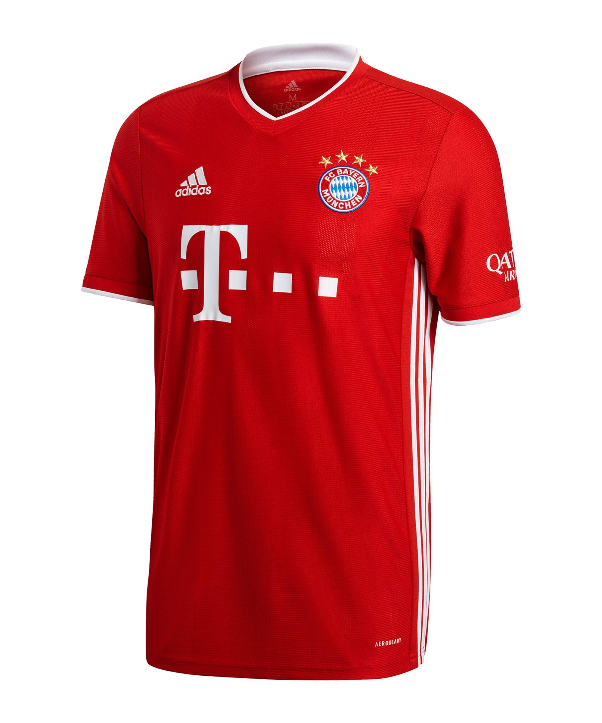 adidas FC Bayern München Trikot Home 2020/2021 Rot - rot