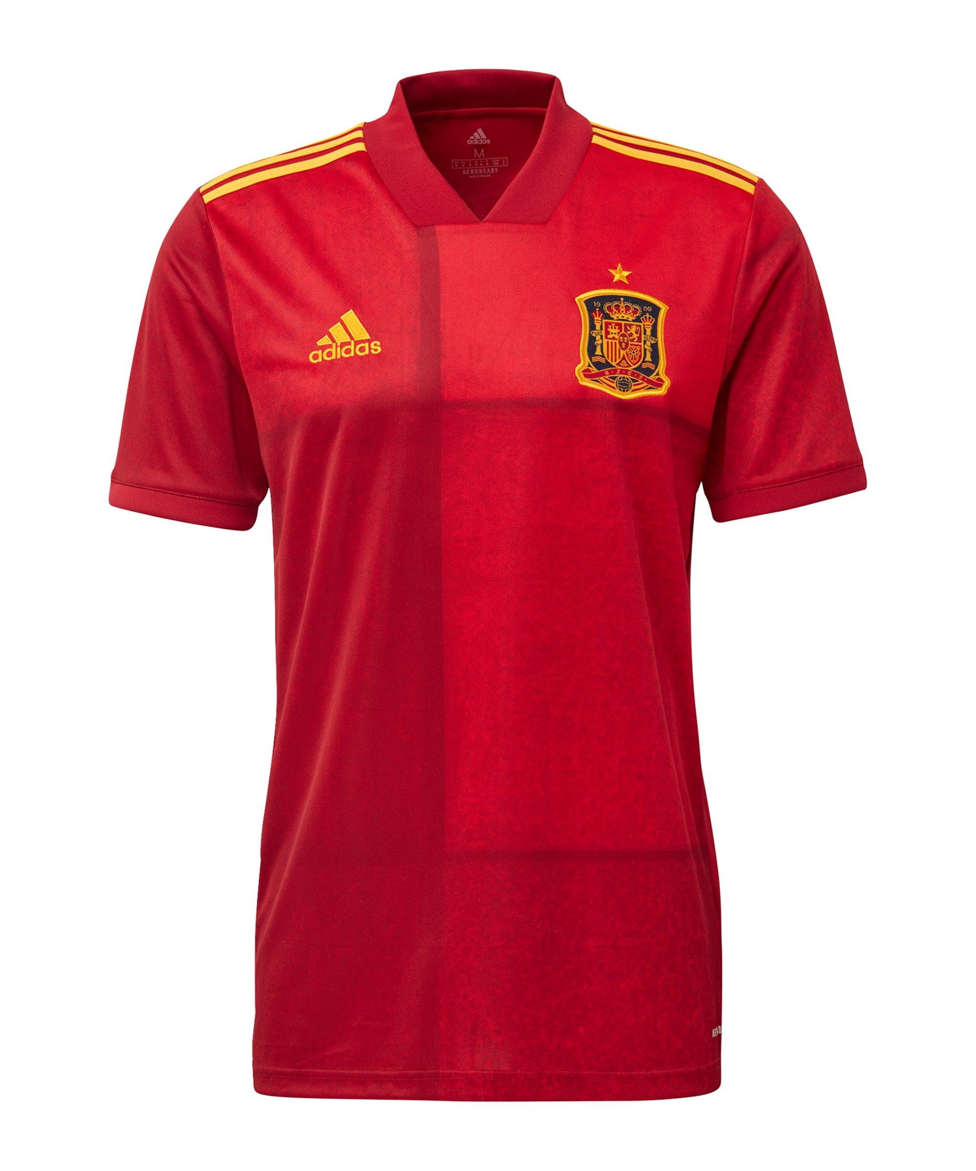 adidas Spanien Trikot Home EM 2020 Rot - rot