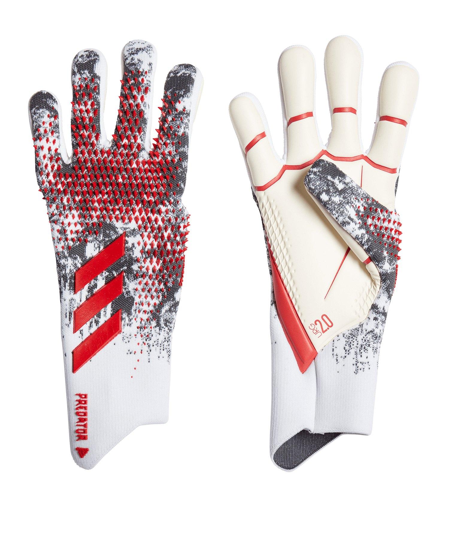 adidas Predator Pro Neuer TW-Handschuh Weiss Rot - weiss