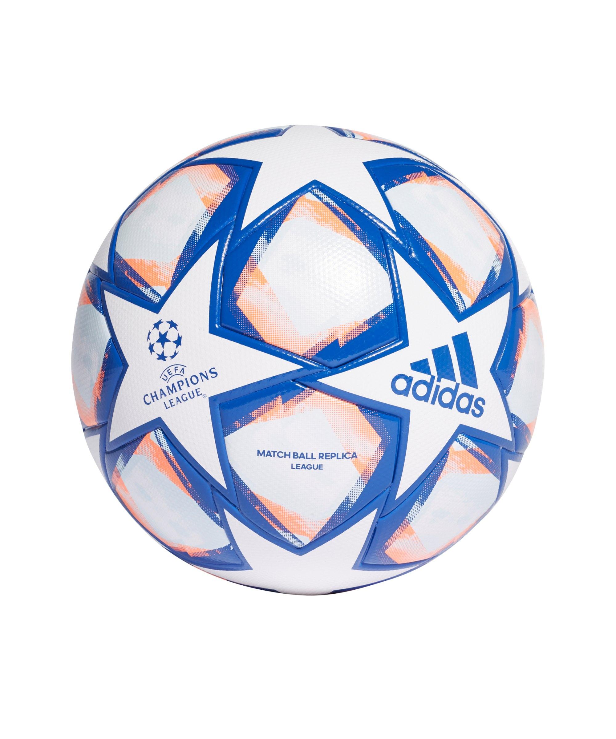 adidas Champions League Finale LGE Fussball Weiss Blau Orange - weiss