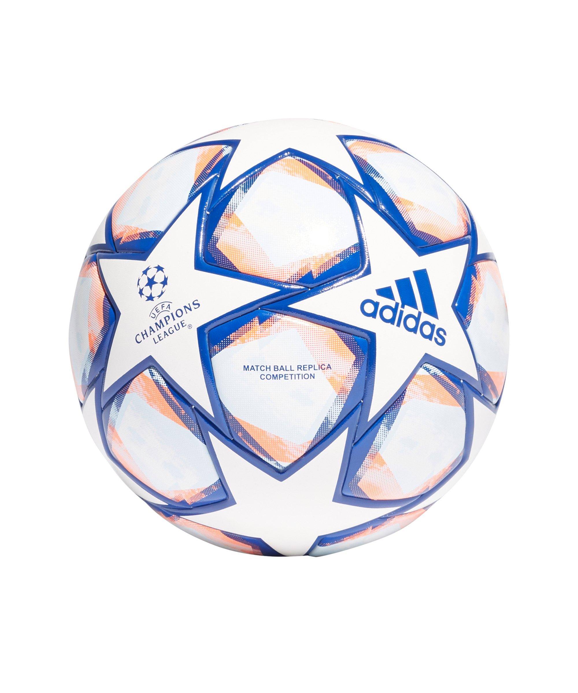 adidas Champions League Finale COM Spielball Weiss Blau Orange - weiss