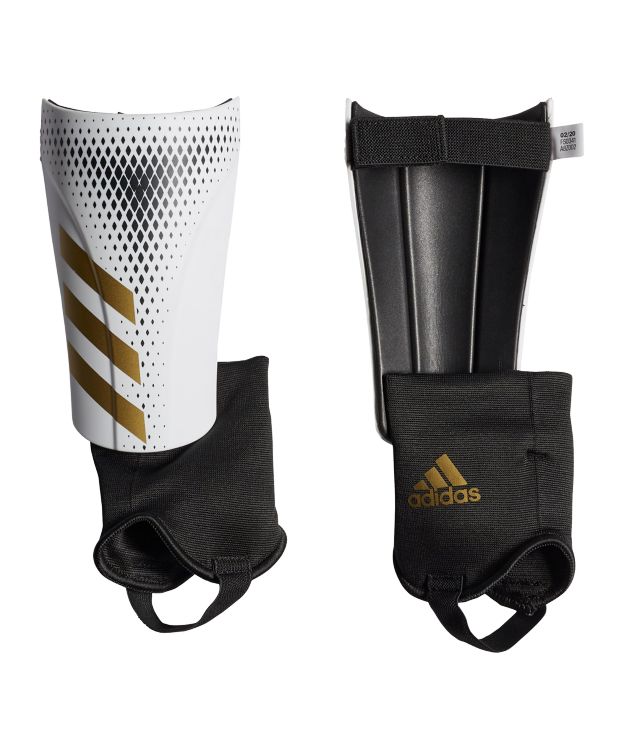 adidas Predator Inflight Match Schienbeinschoner Weiss Gold - weiss