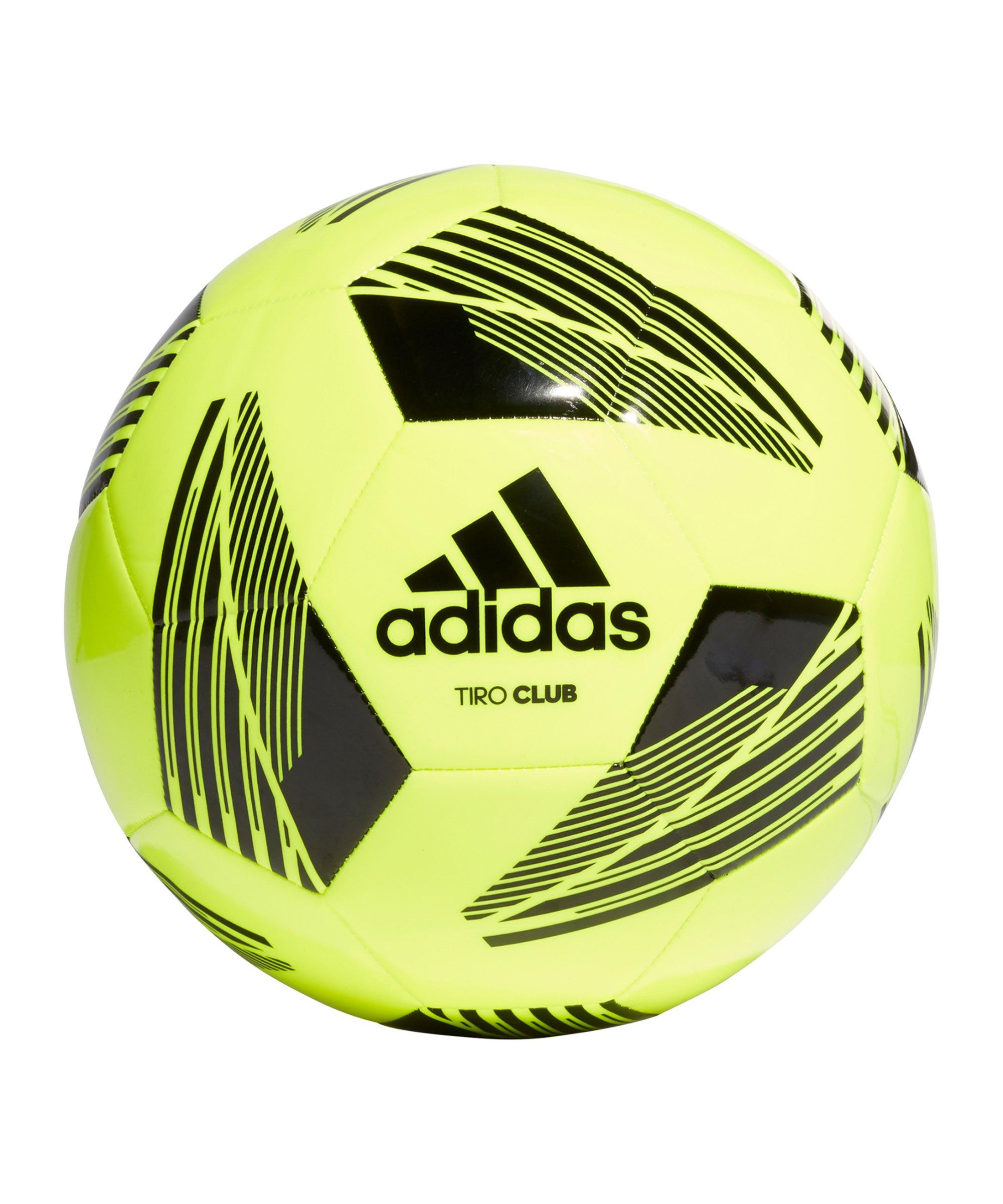 adidas Tiro CLB Trainingsball Gelb Schwarz - gelb