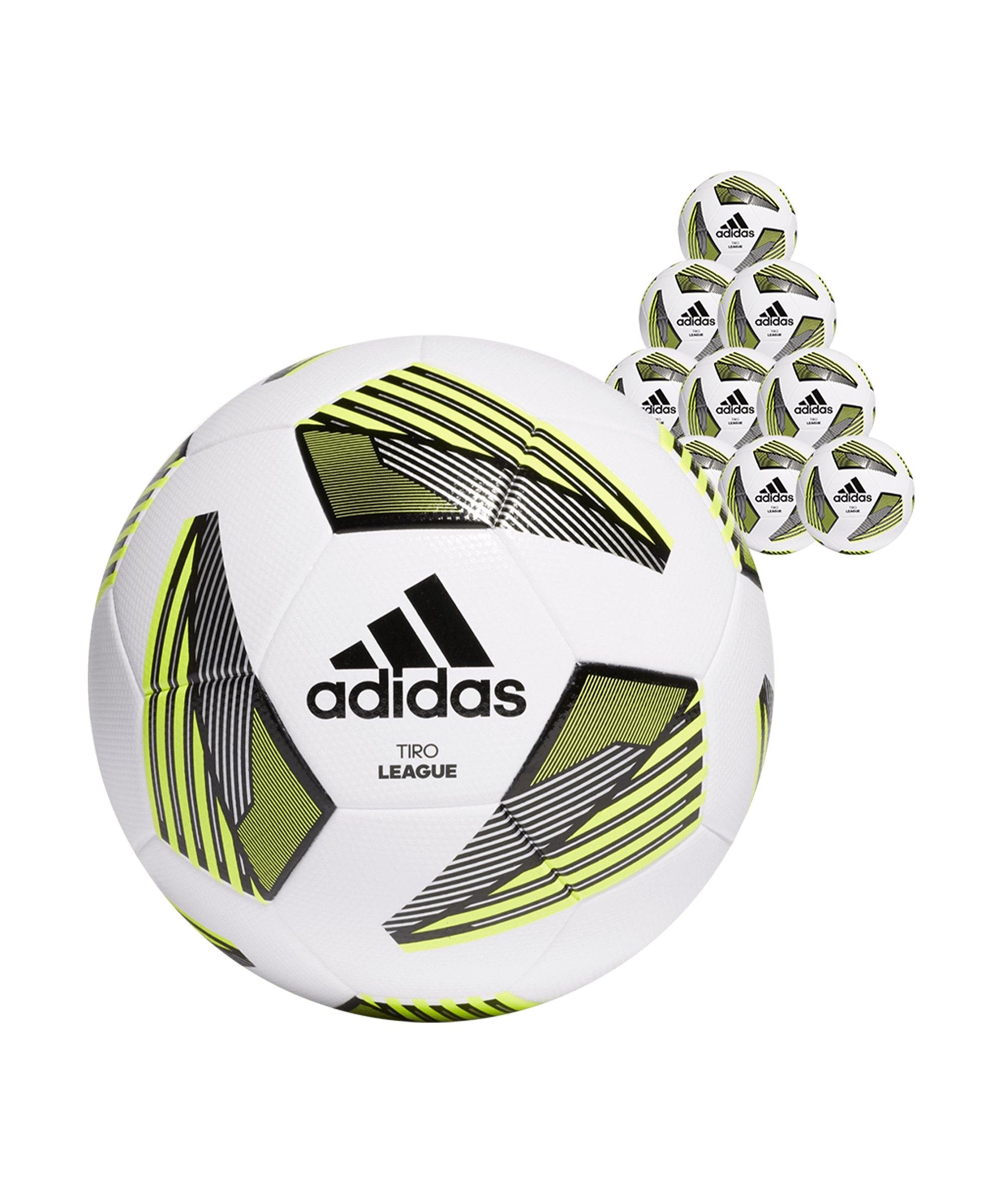 adidas Tiro League TSBE 10x Gr.5 Fussball Weiss - weiss