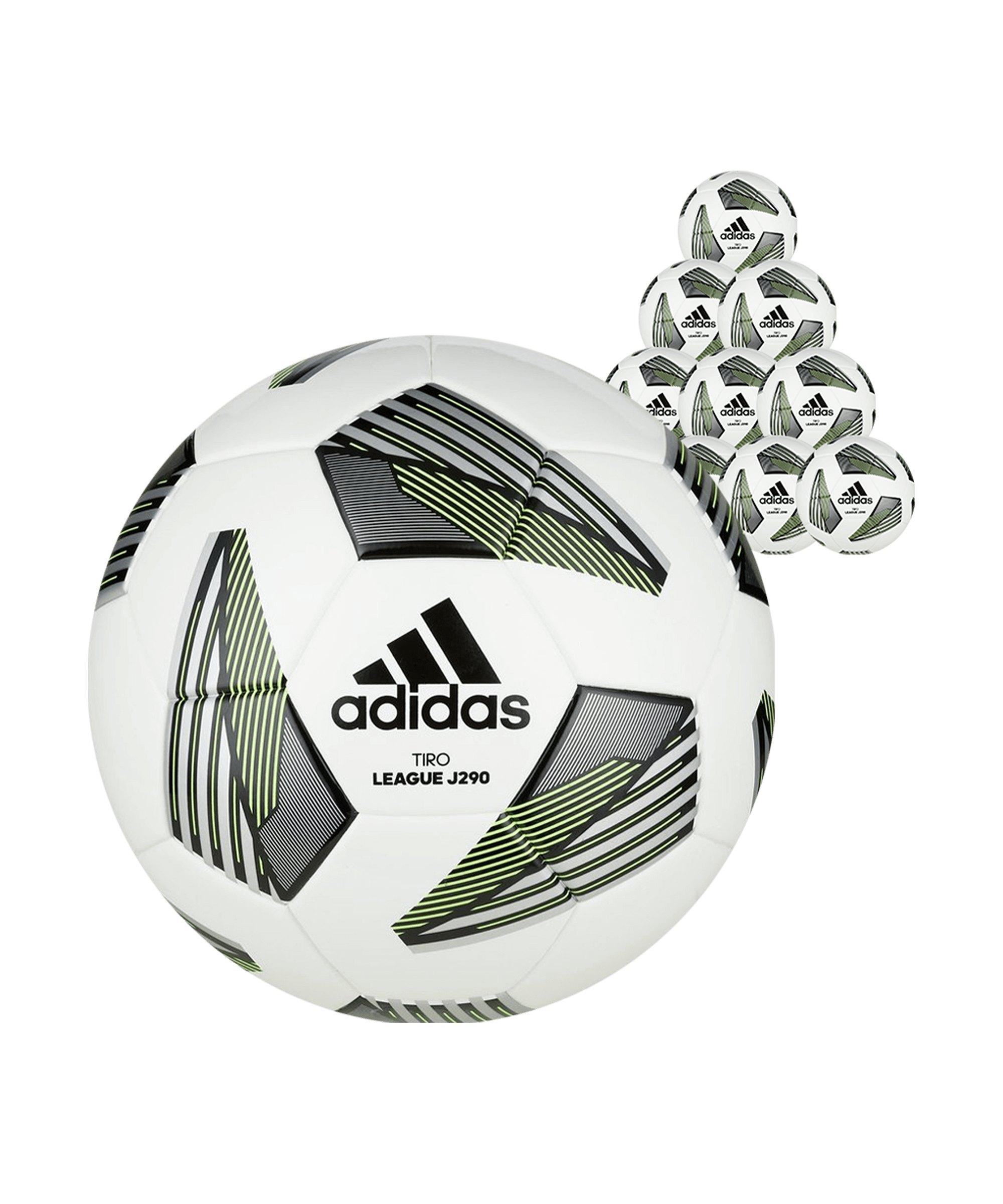 adidas Tiro League Junior 290 Gramm 20x Gr.5Fussball Weiss - weiss
