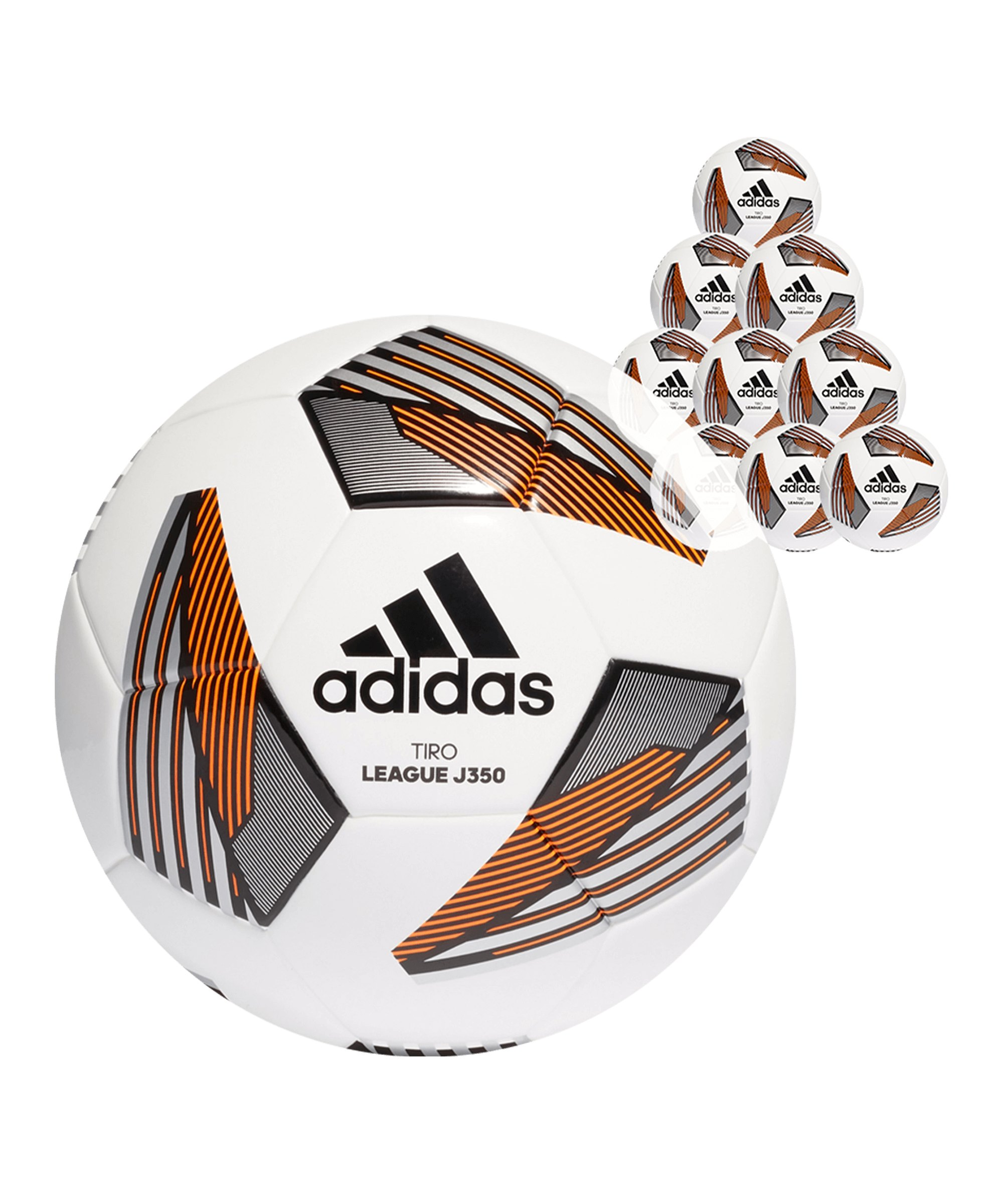 adidas Tiro League Junior 350 Gramm 50x Gr.5Fussball Weiss - weiss