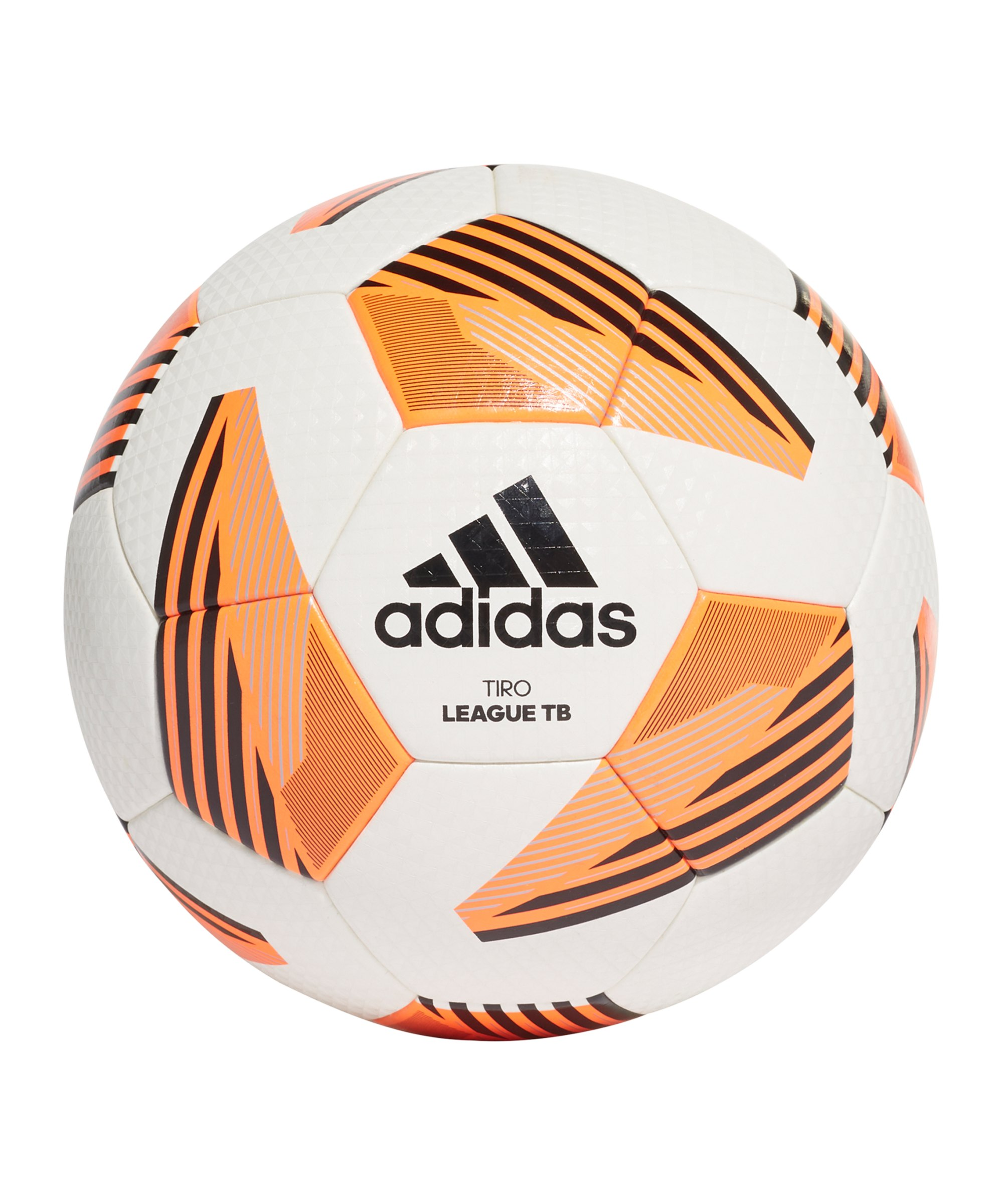 adidas Tiro League Trainingsball Weiss Orange - weiss