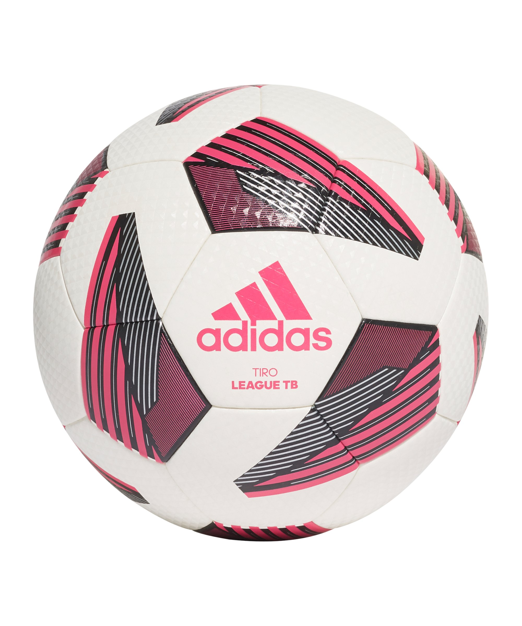 adidas Tiro League Trainingsball Weiss Pink - weiss