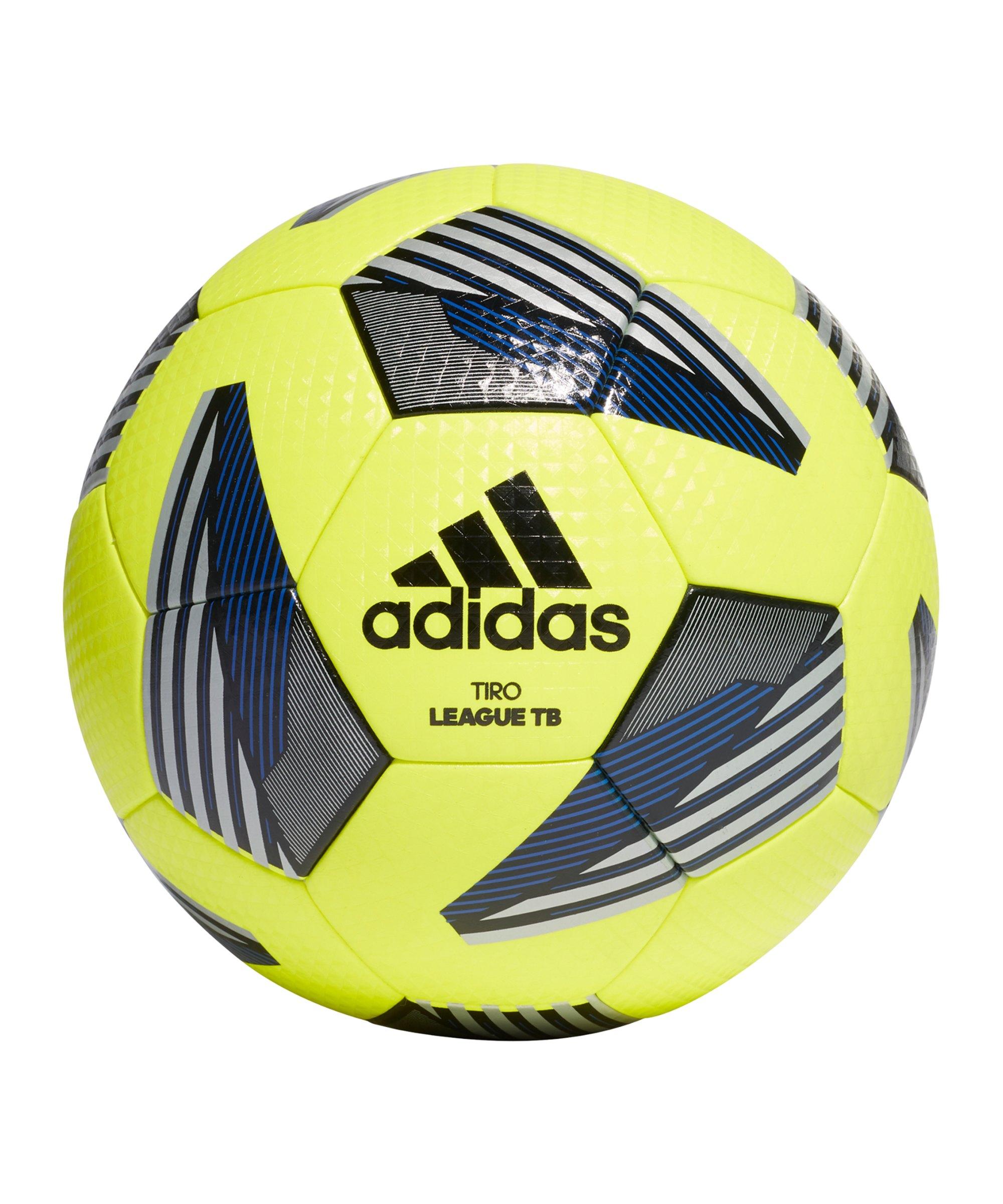 adidas Tiro League Trainingsball Gelb Blau - gelb