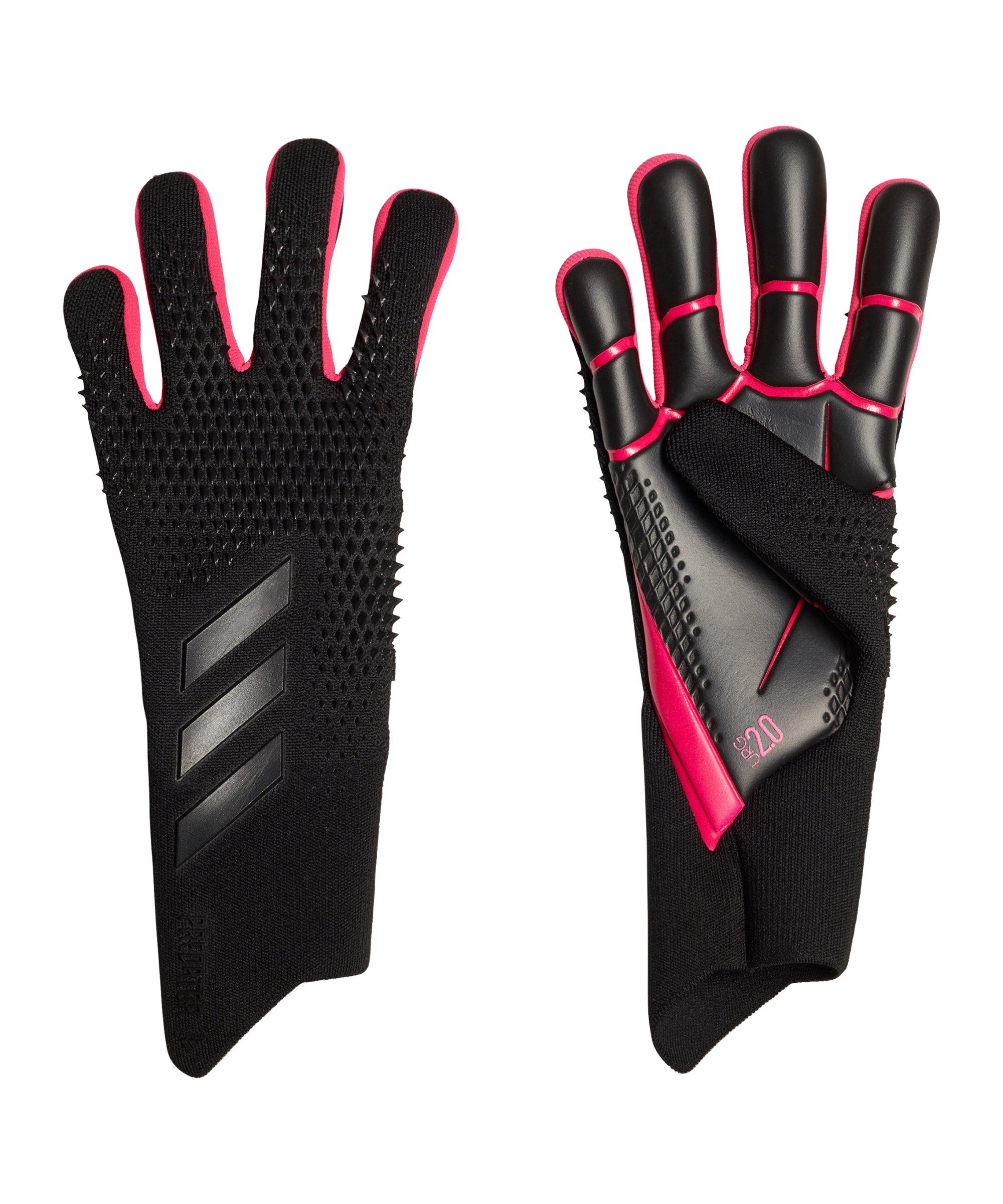 adidas Predator Pro Black Pack Torwarthandschuh Schwarz Pink - schwarz