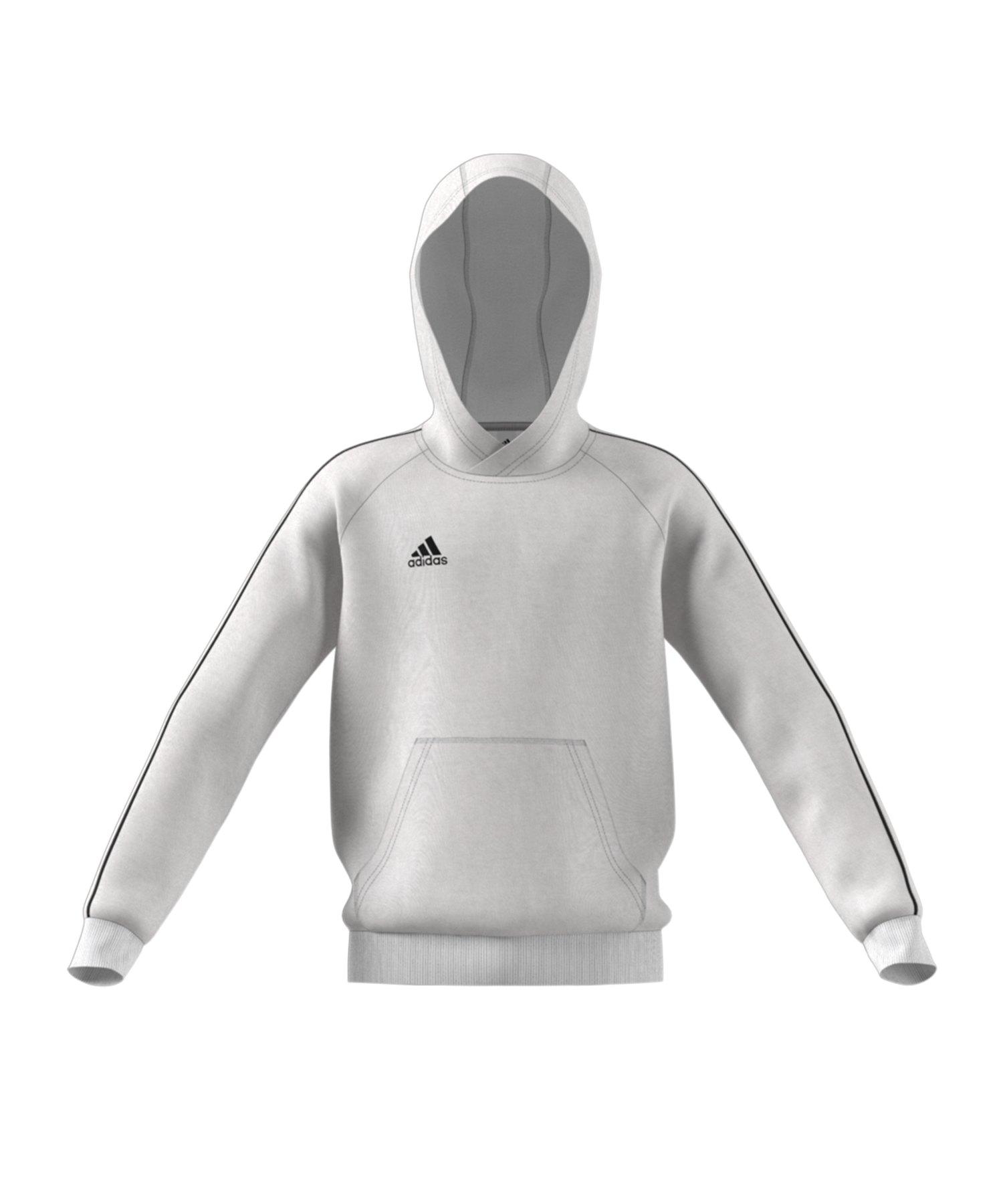 adidas Core 18 Kapuzensweatshirt Kids Weiss - weiss