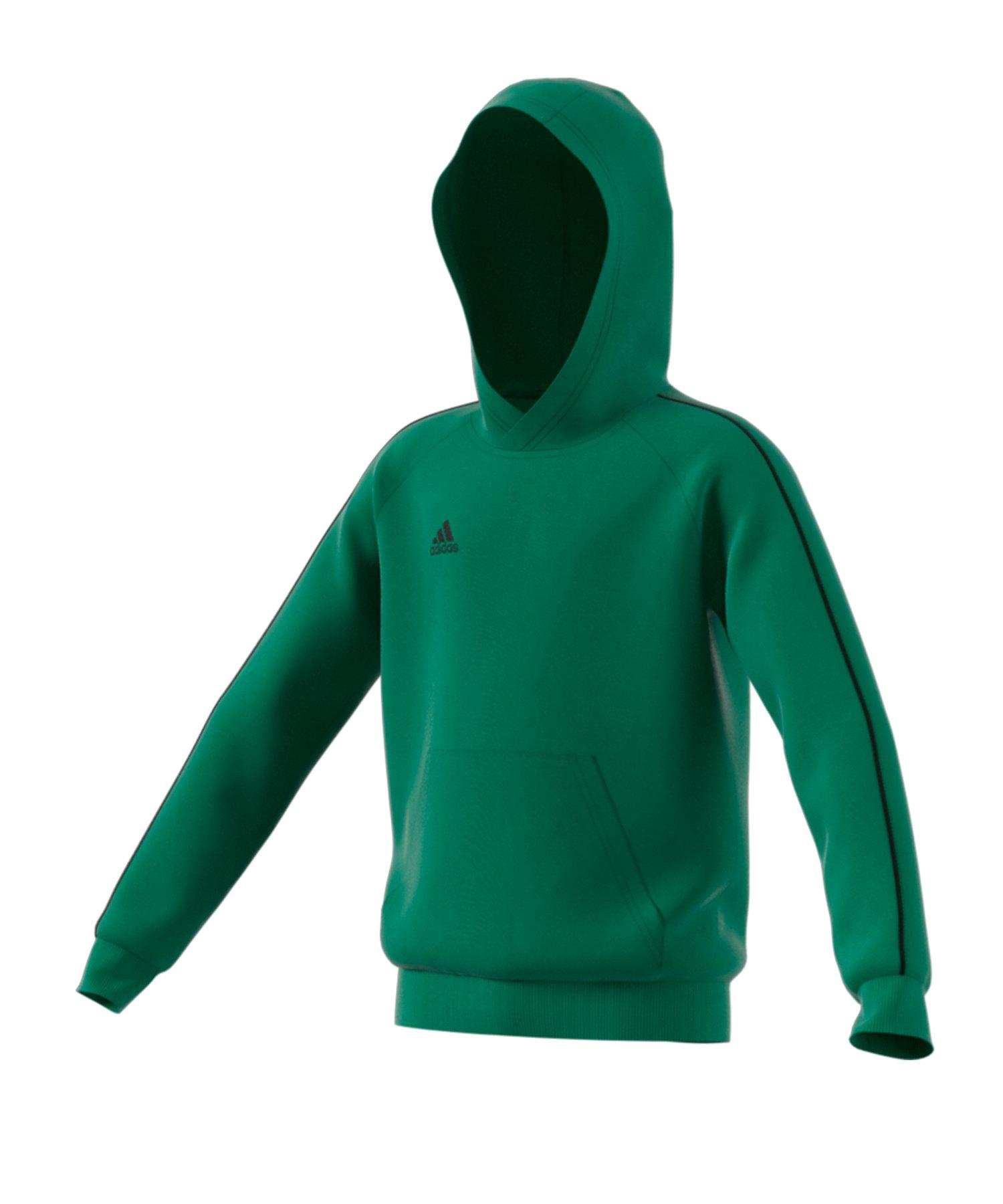adidas Core 18 Hoody Kapuzenswearshirt Kids Grün - gruen