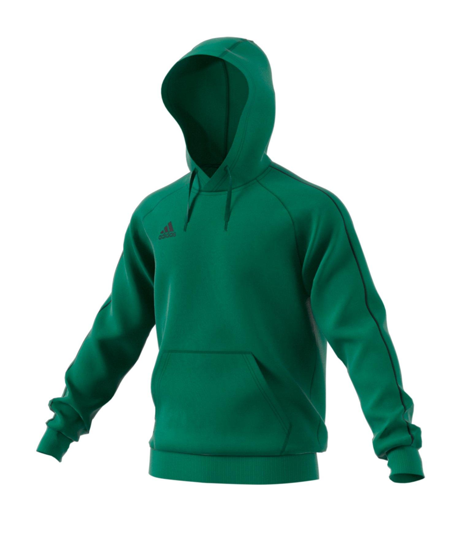adidas Core 18 Hoody Kapuzenswearshirt Grün - gruen