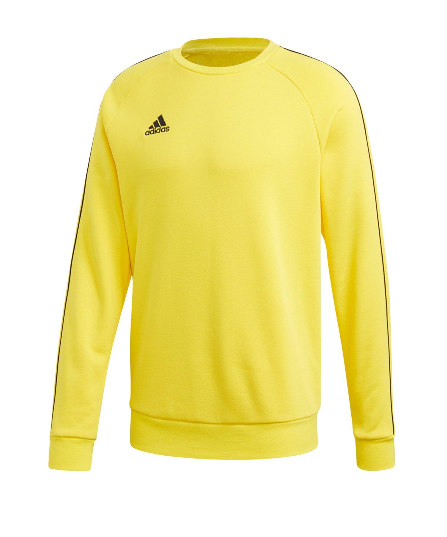 adidas Core 18 Sweatshirt Gelb Schwarz - gelb