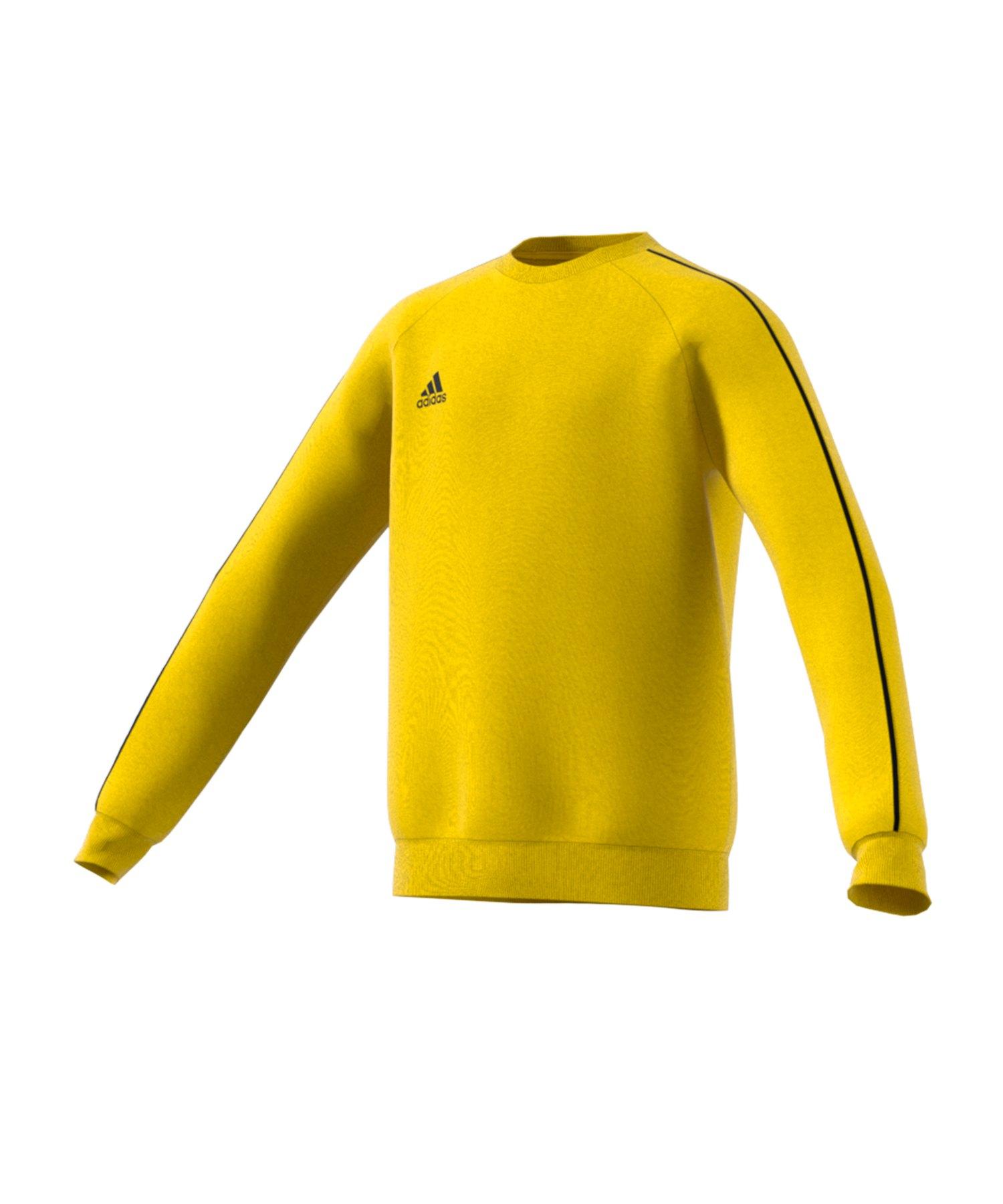 adidas Core 18 Sweat Top Kids Gelb Schwarz - gelb