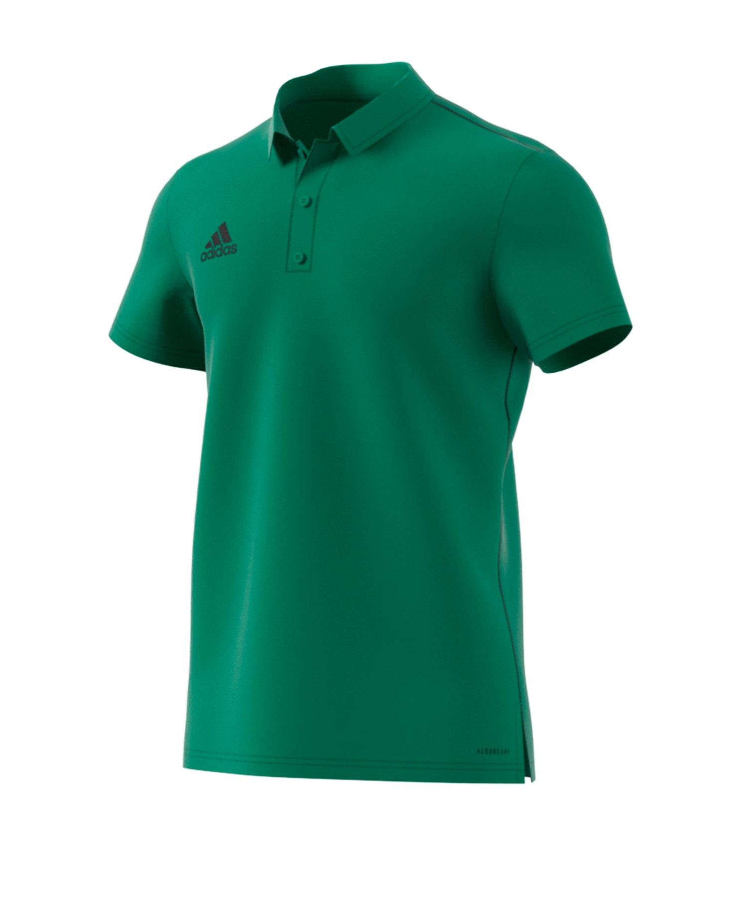 adidas Core 18 Poloshirt Grün - gruen