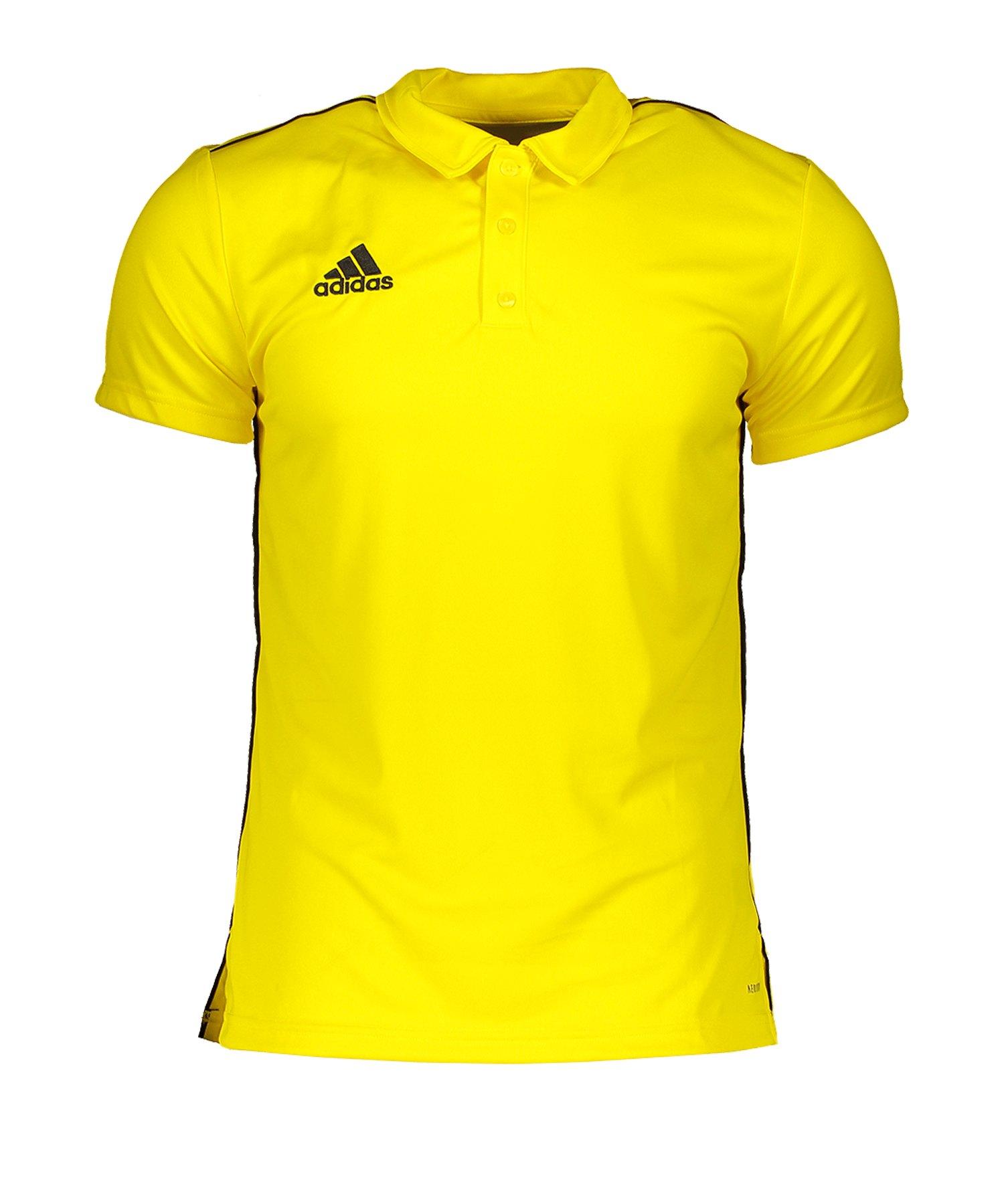 adidas Core 18 Poloshirt Gelb - gelb