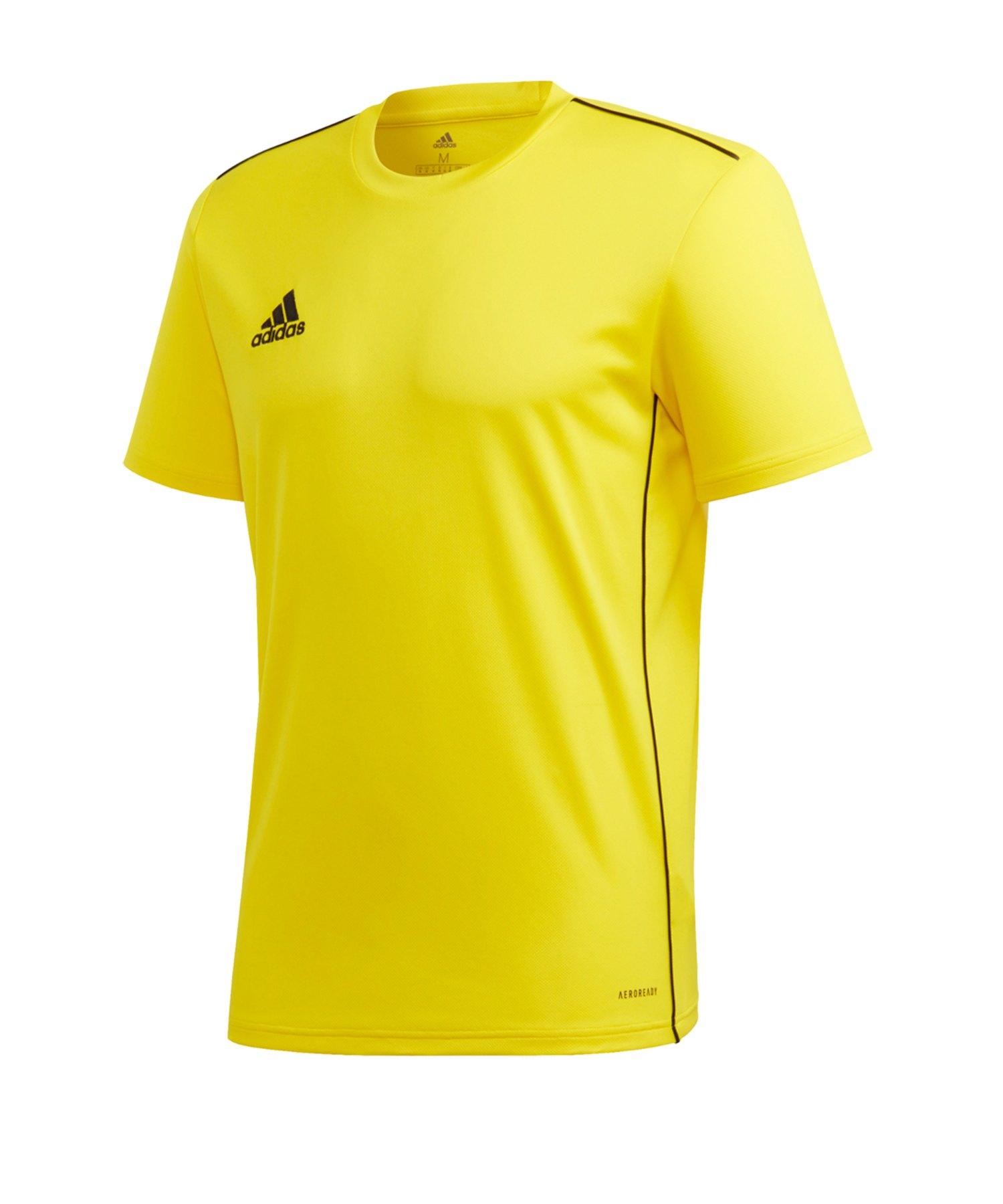 adidas Core 18 Training Tee T-Shirt Gelb - gelb