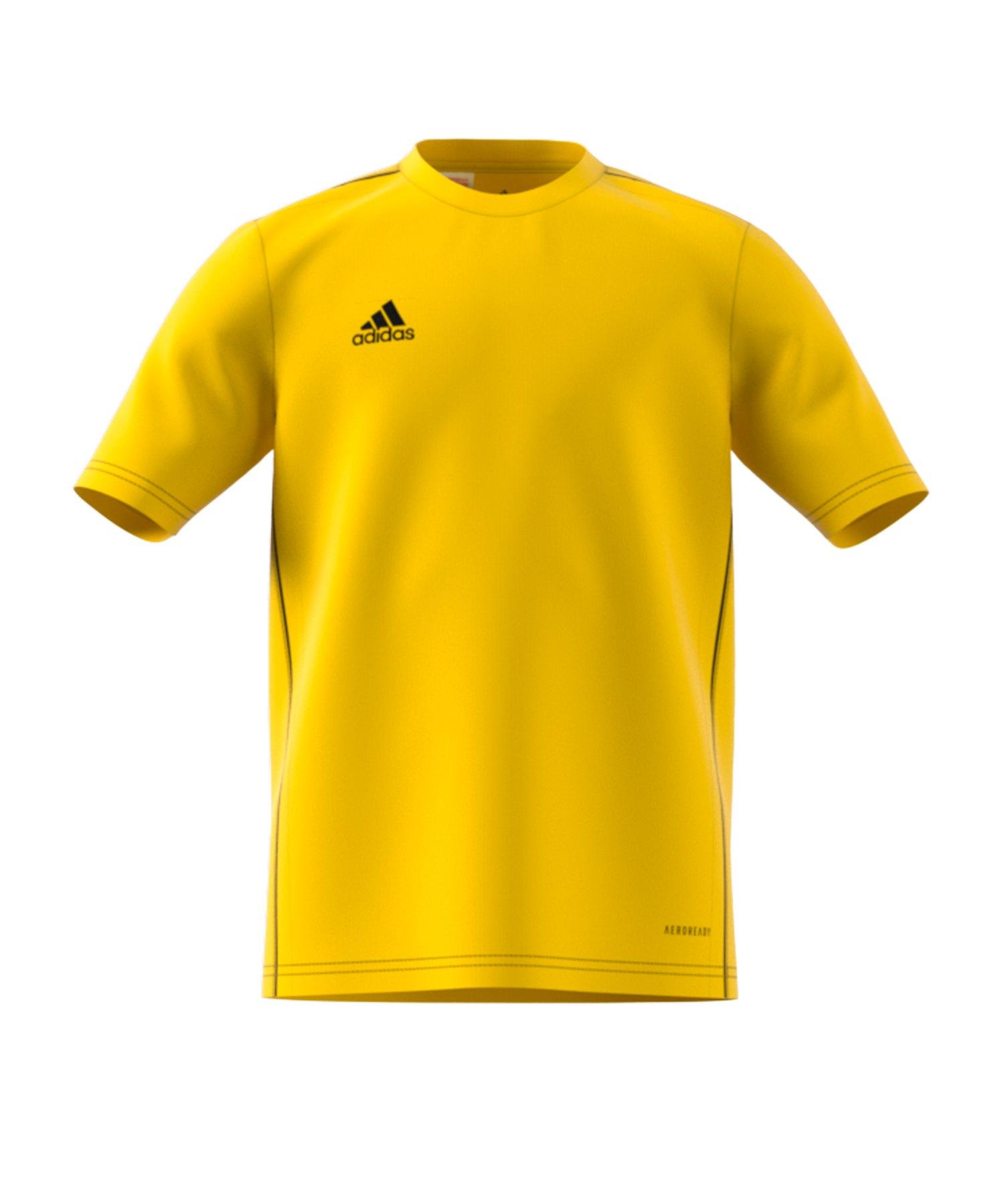 adidas Core 18 Tee T-Shirt Kids Gelb - gelb