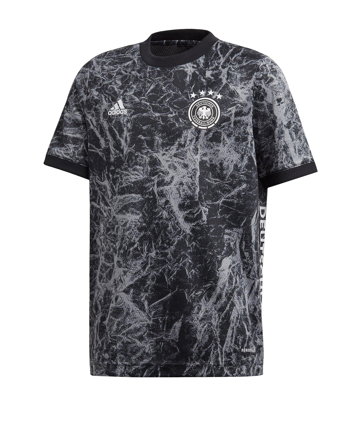 adidas DFB Deutschland Prematch Shirt EM 2020 Kids Schwarz - schwarz