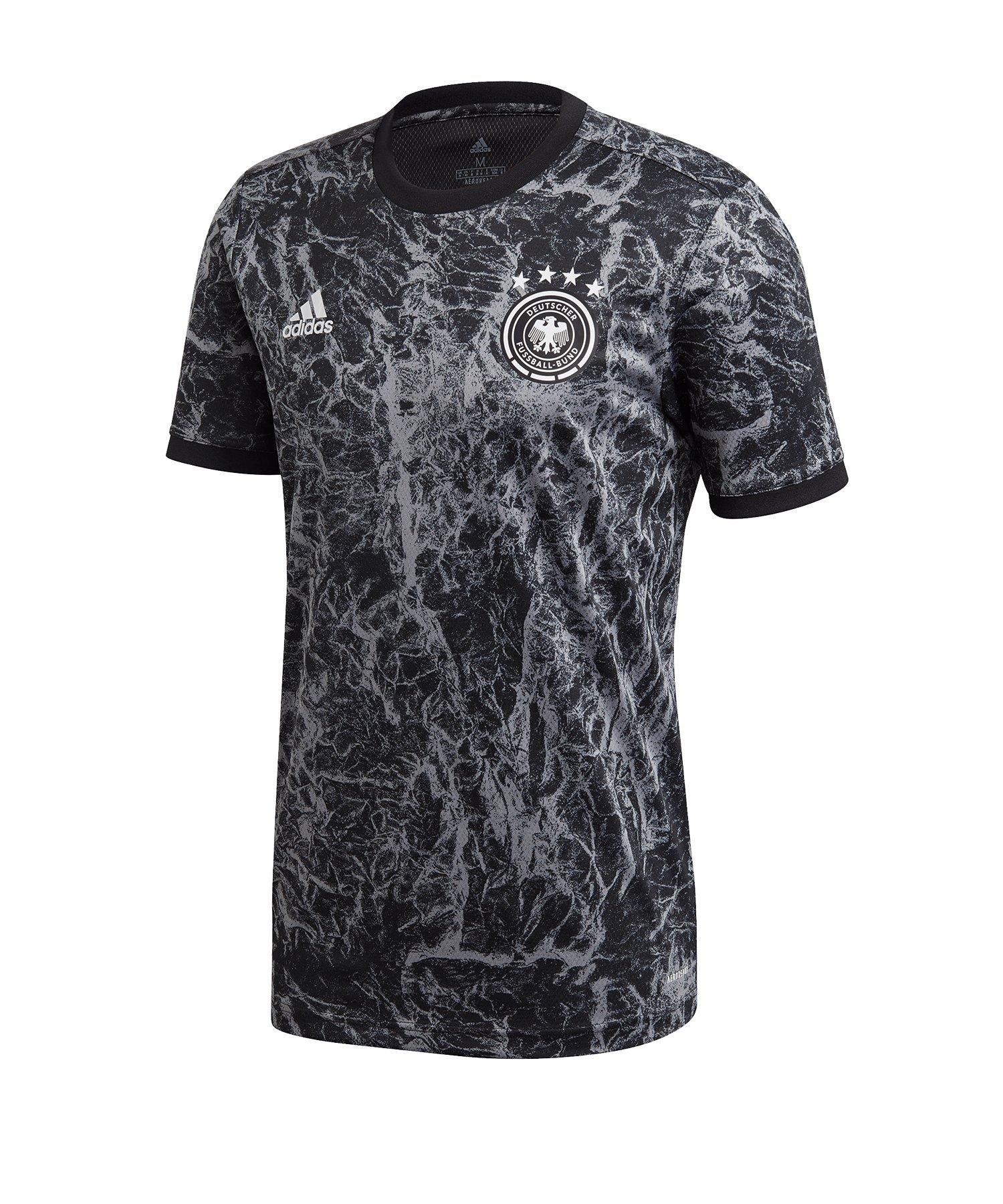 adidas DFB Deutschland Prematch Shirt EM 2020 Schwarz - schwarz