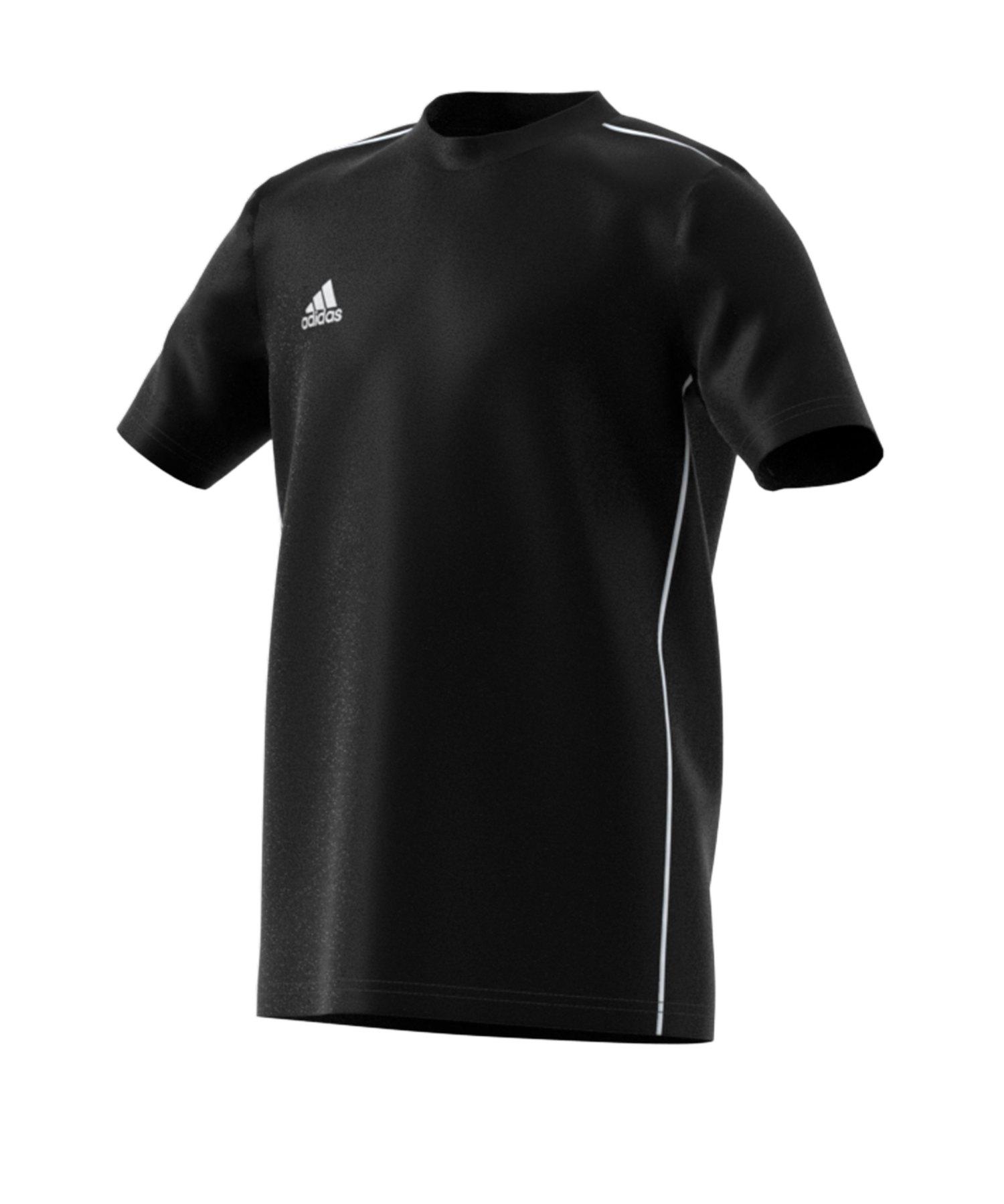 adidas Core 18 Tee T-Shirt Kids Schwarz Weiss - schwarz