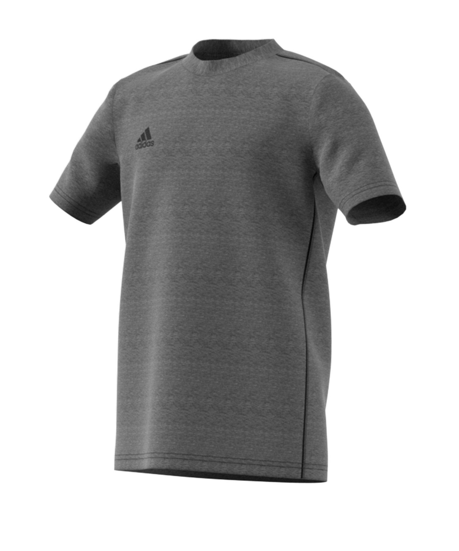 adidas Core 18 Tee T-Shirt Kids Grau Schwarz - grau