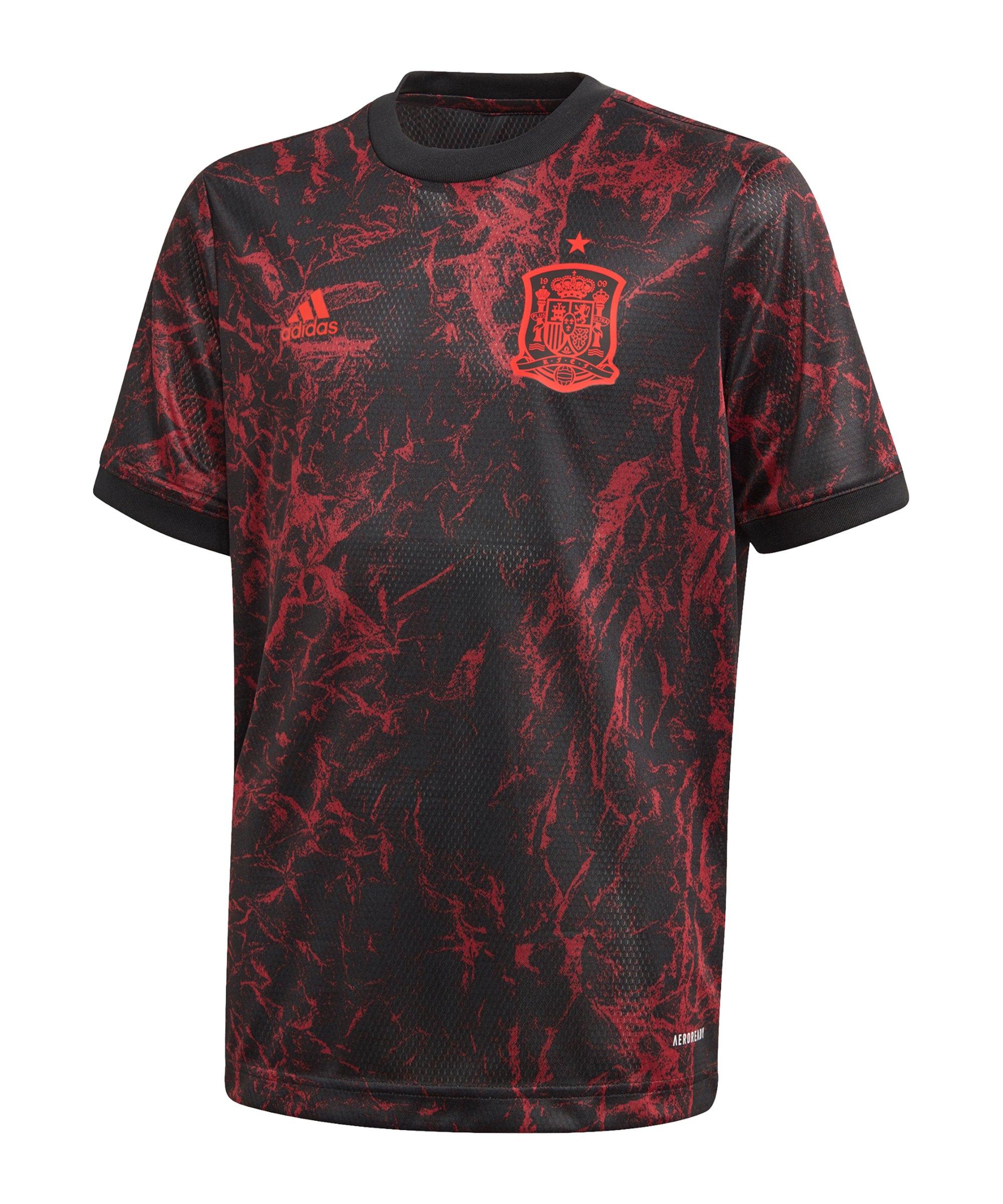 adidas Spanien Prematch Shirt EM 2020 Schwarz - schwarz