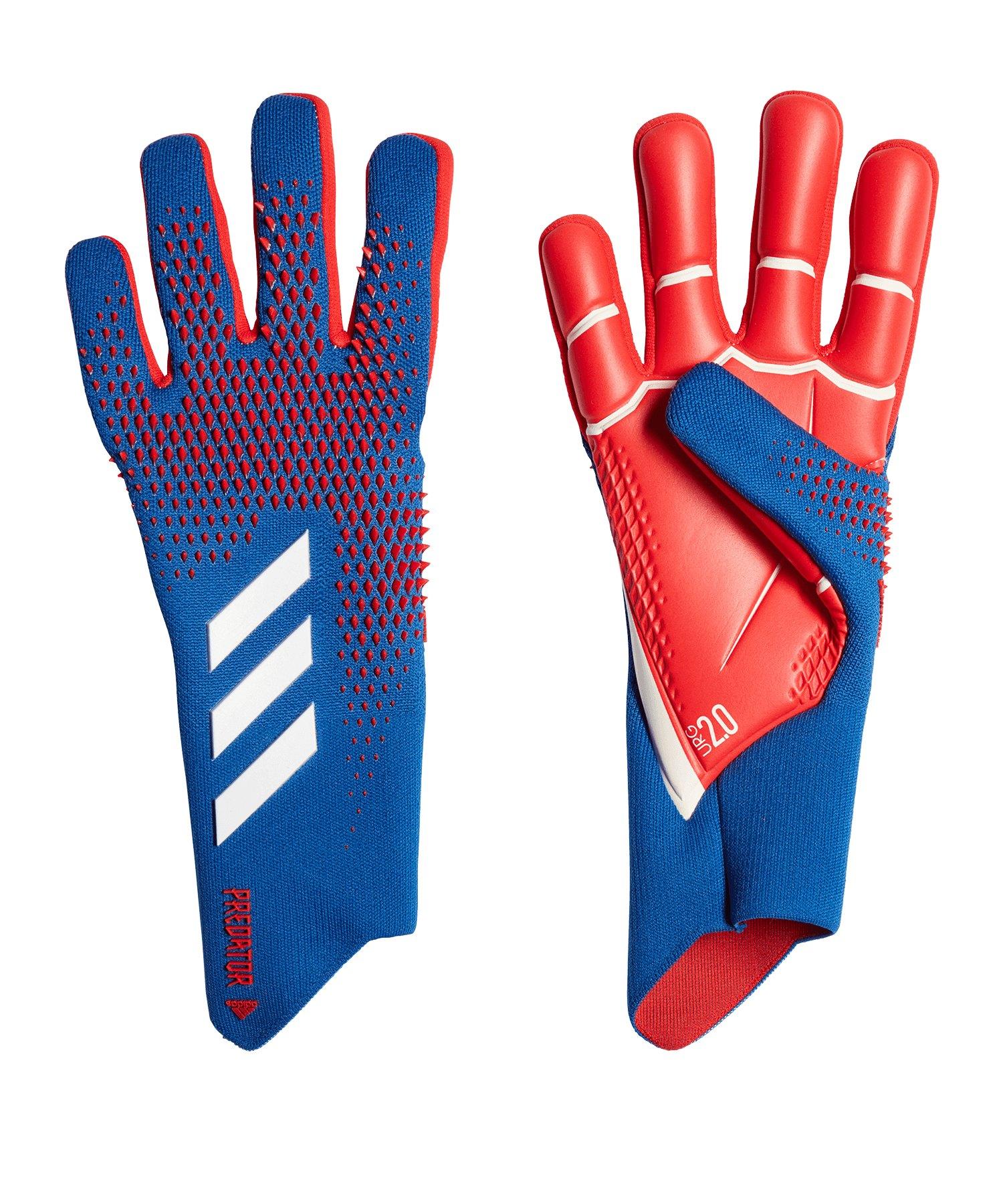 adidas Predator Pro TW-Handschuh Blau Rot - blau