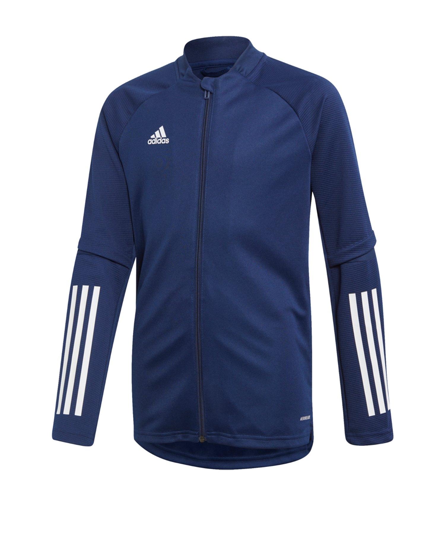 adidas Condivo 20 Trainingsjacke Kids Blau Weiss - blau