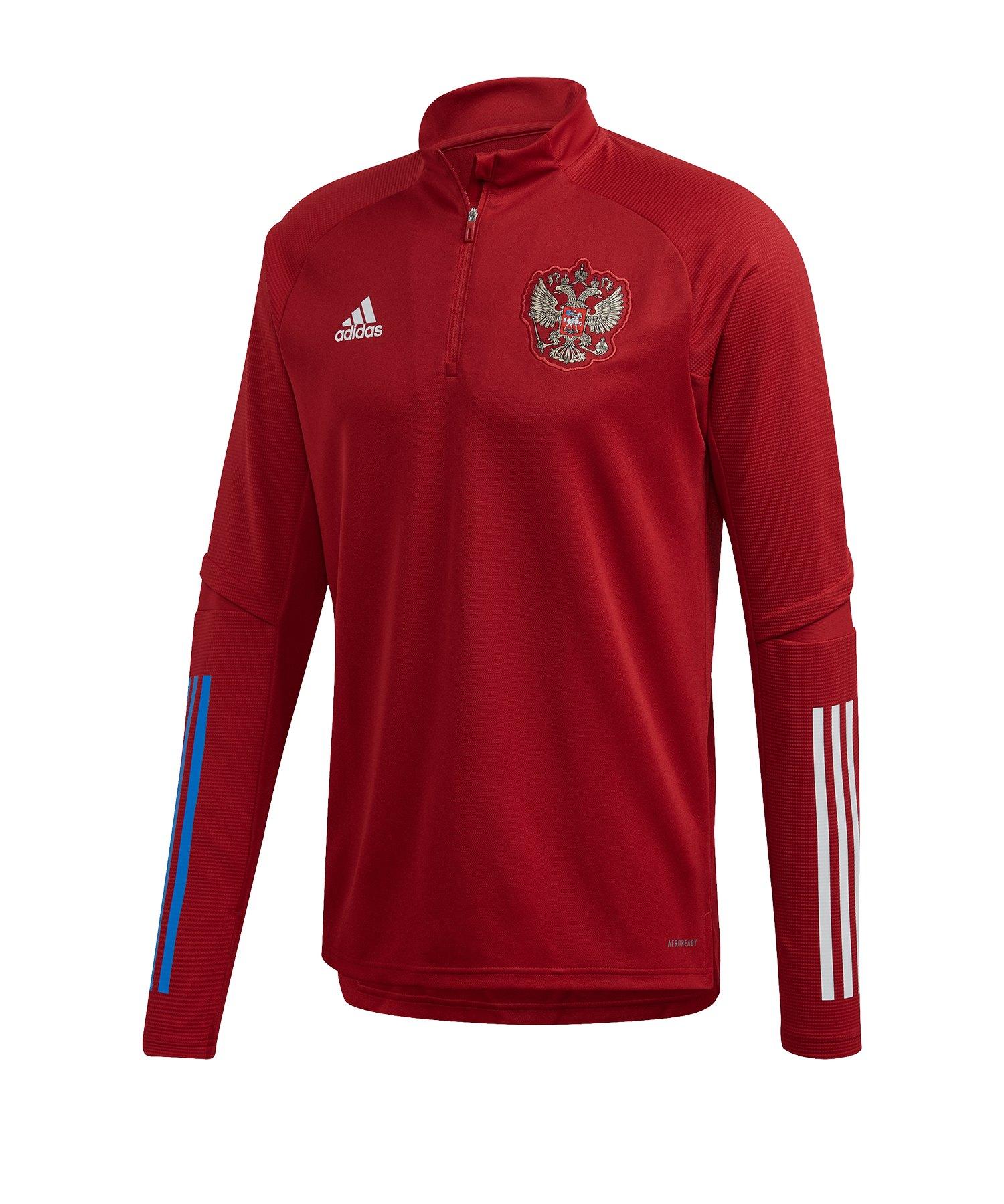 adidas Russland 1/4 Zip Sweatshirt Rot - rot