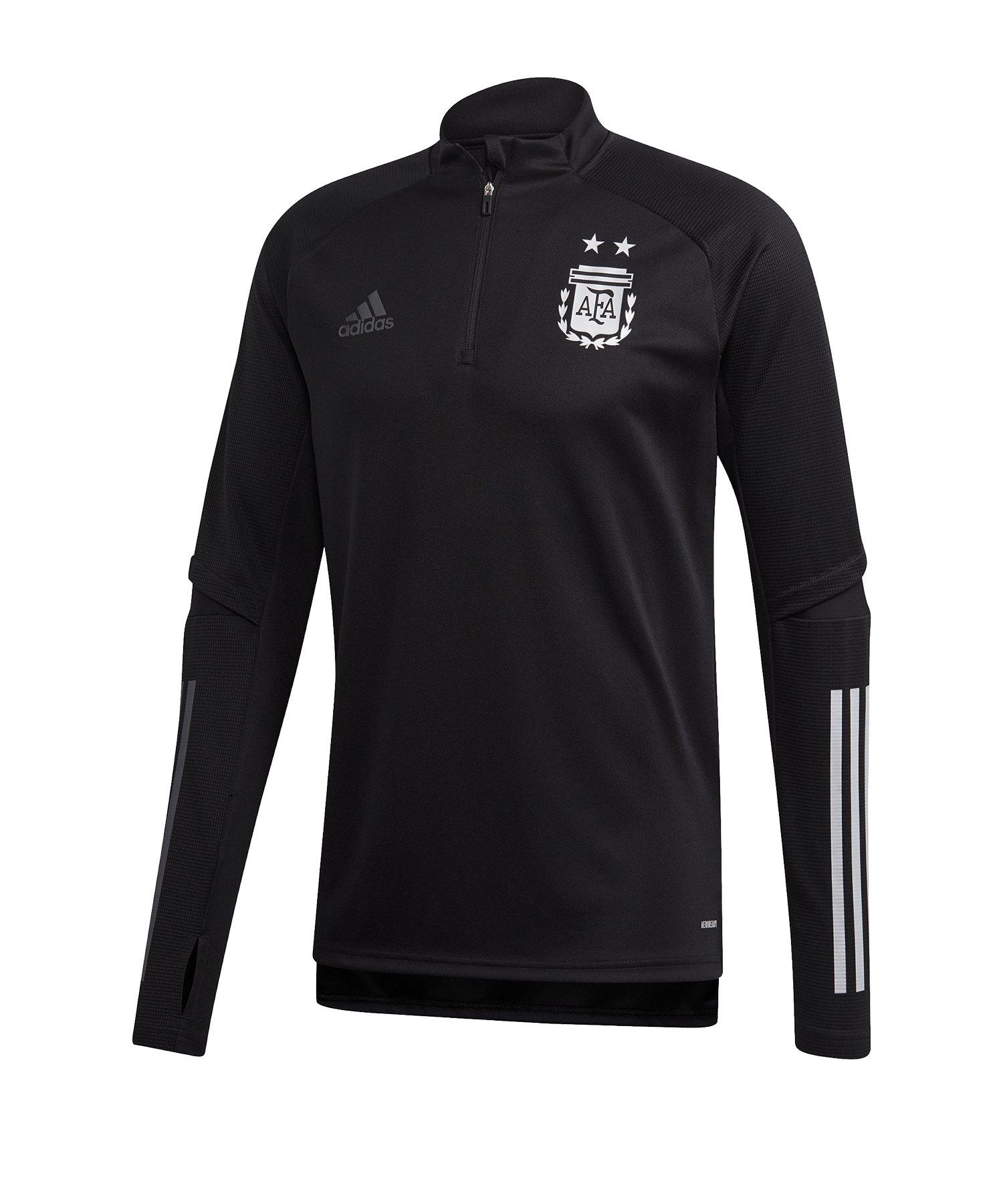 adidas Argentinien 1/4 Zip Top Schwarz - schwarz