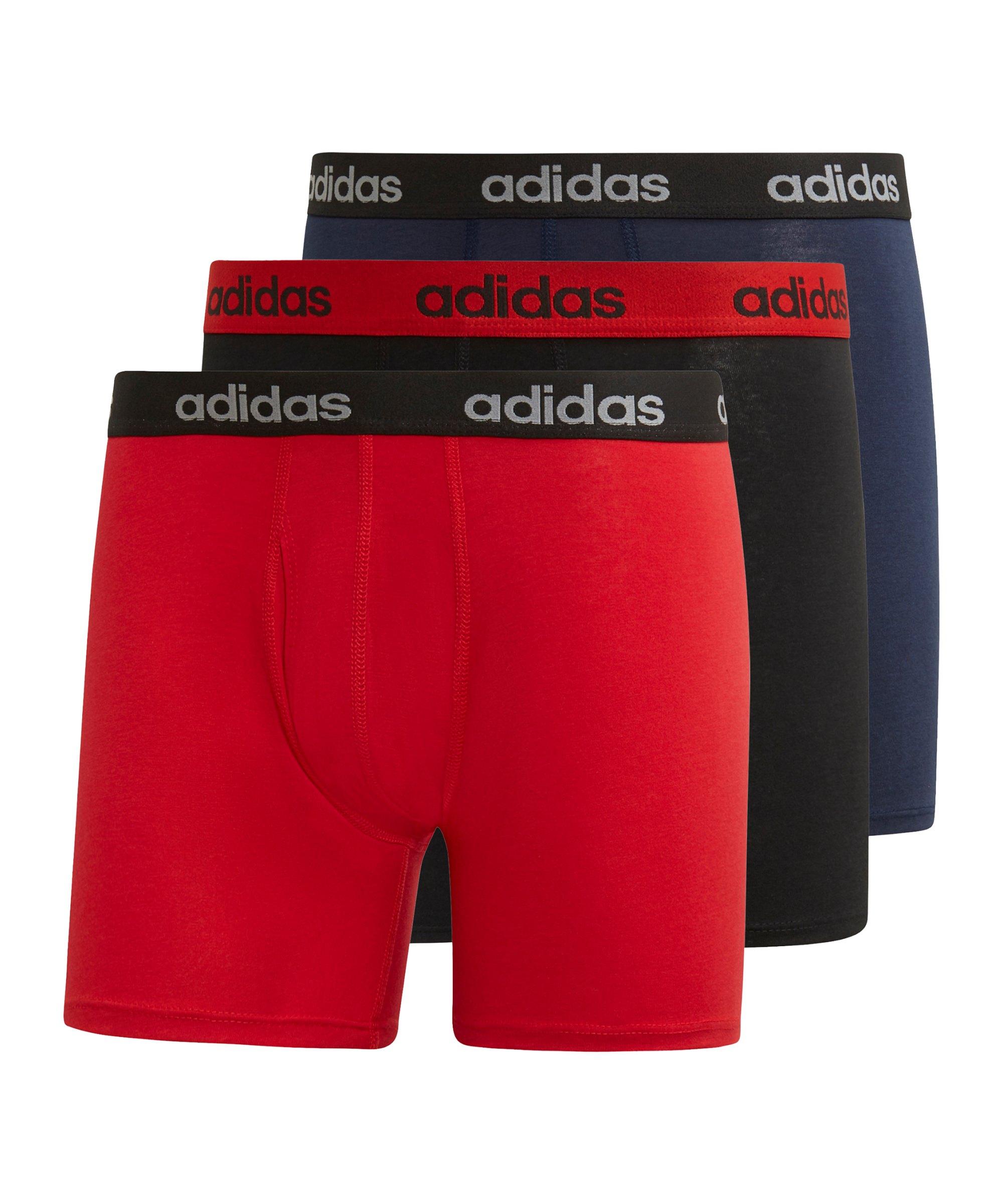 adidas Brief 3er Pack Rot Schwarz Blau - rot