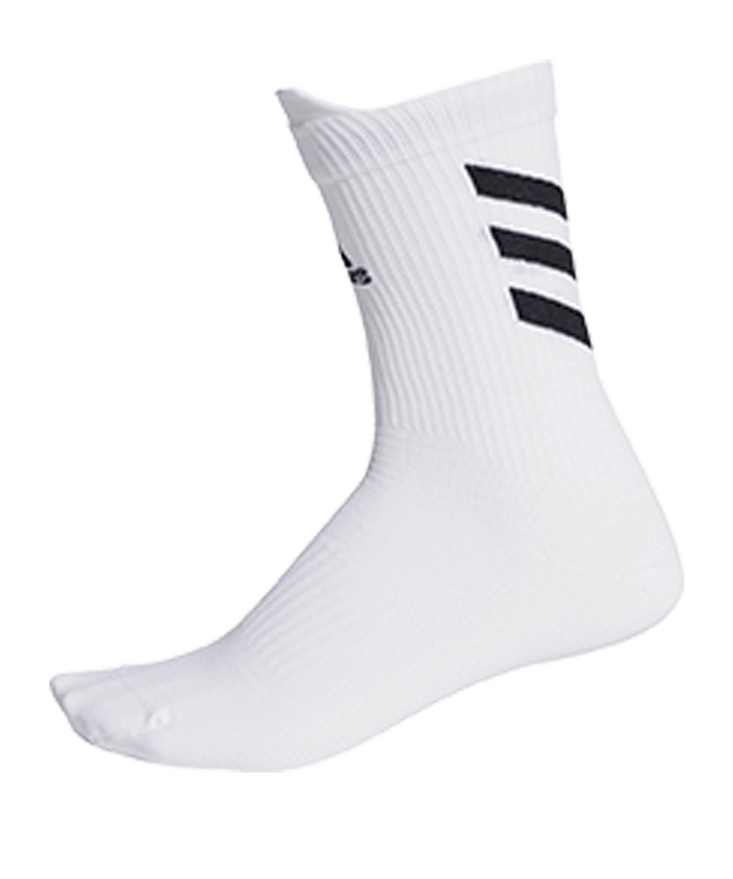 adidas Alphaskin Ultra Light Socken Weiss - weiss
