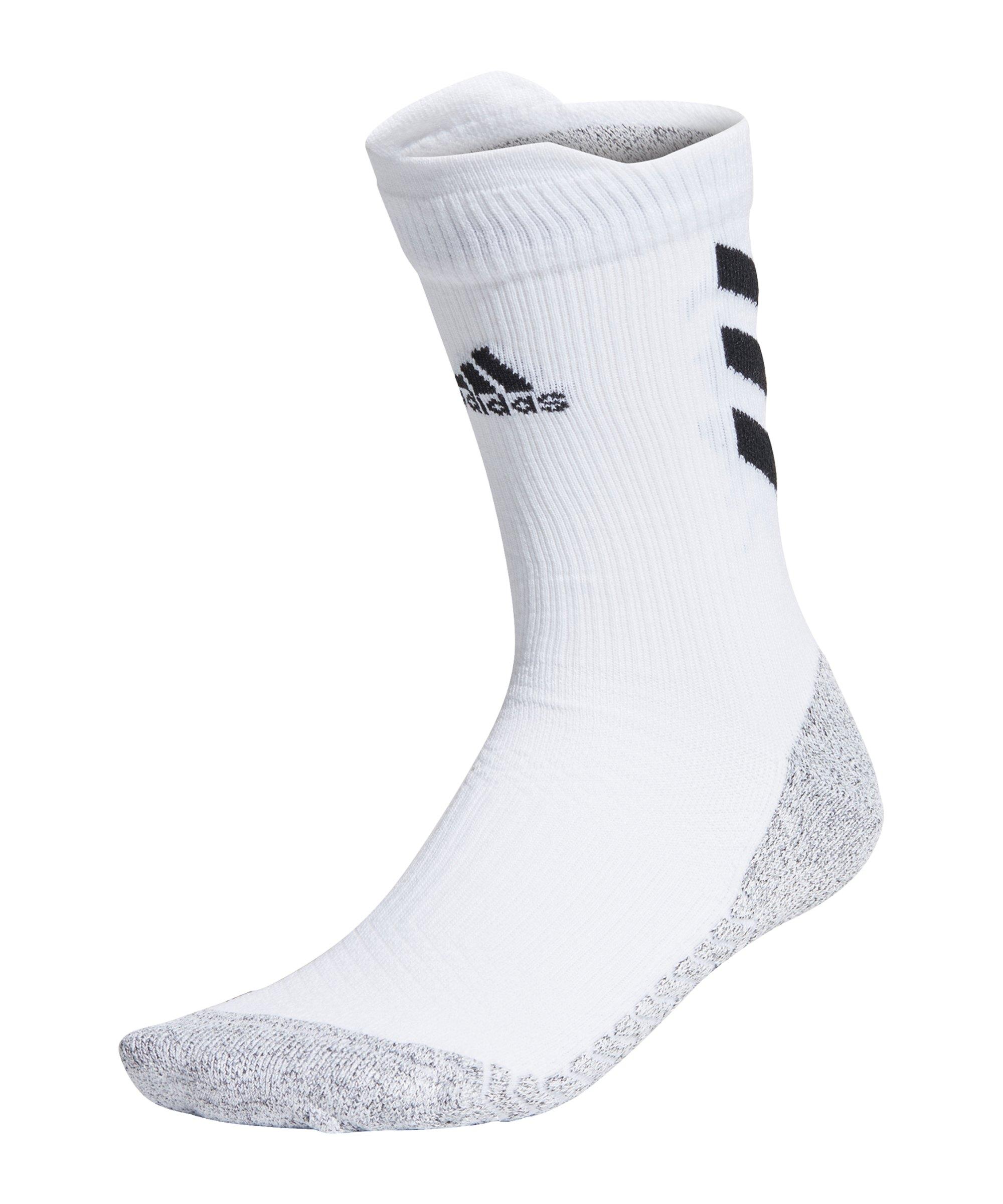 adidas Alphaskin Crew Socken Weiss Schwarz - weiss