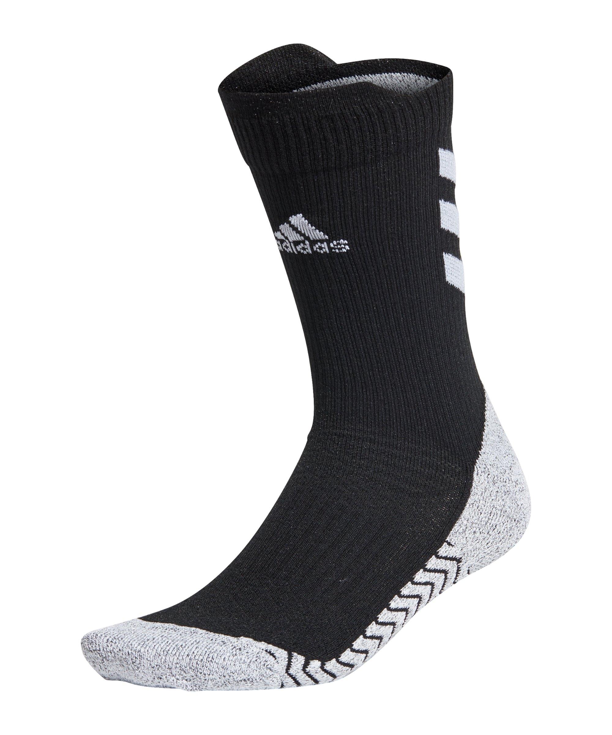 adidas Alphaskin Crew Socken Schwarz Weiss - schwarz