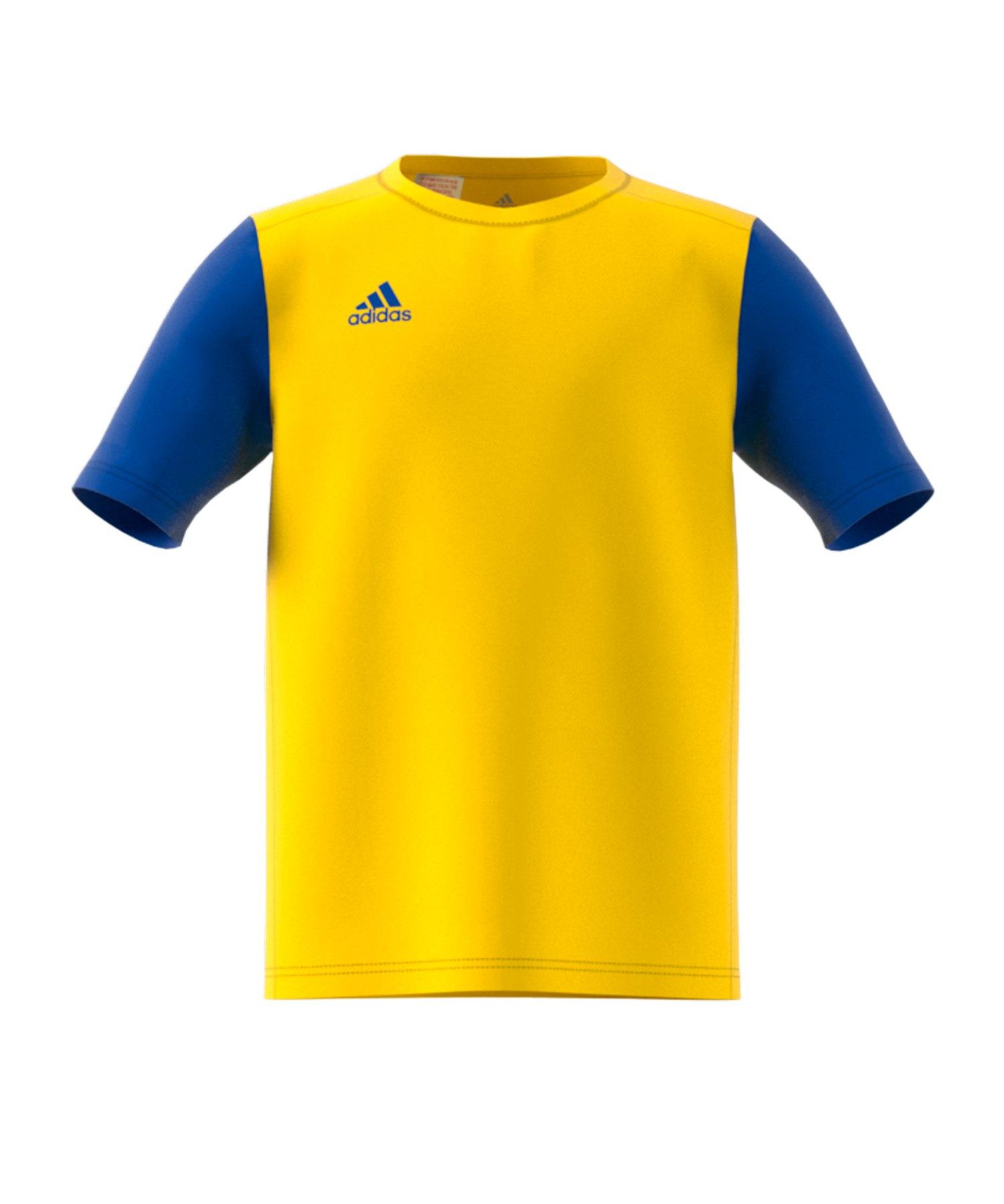adidas Estro 19 Trikot kurzarm Kids Gelb Blau - gelb