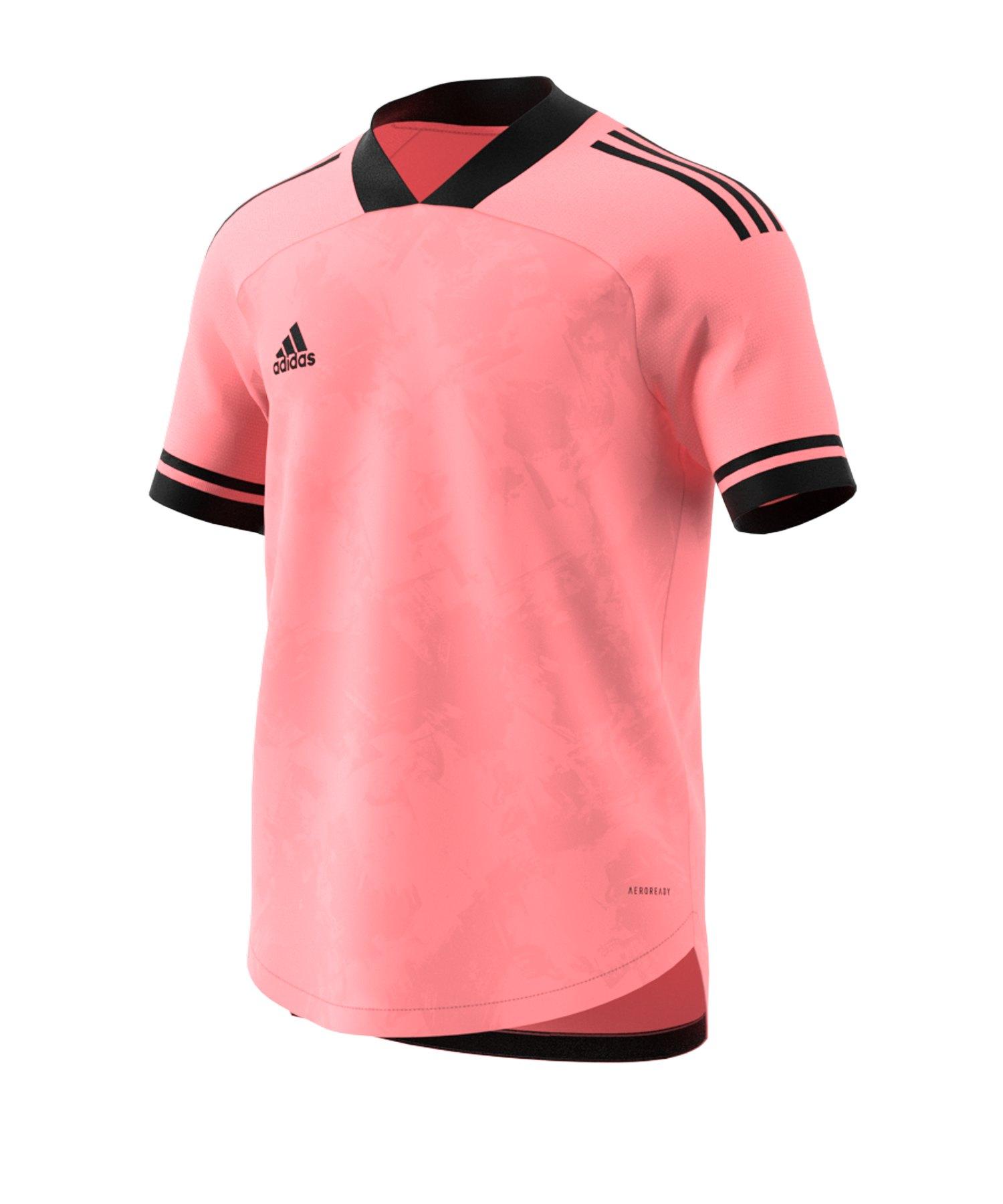adidas Condivo 20 Trikot kurzarm Pink Schwarz - pink