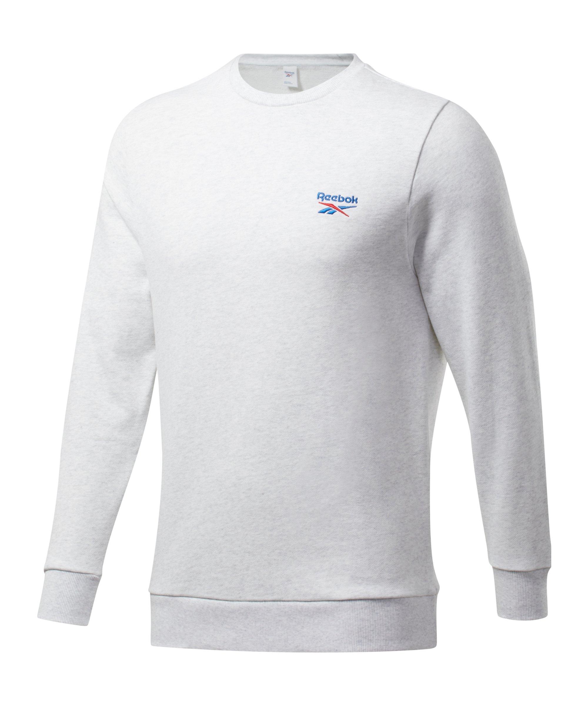 Reebok CL Small Vector Crew Sweatshirt Weiss - weiss