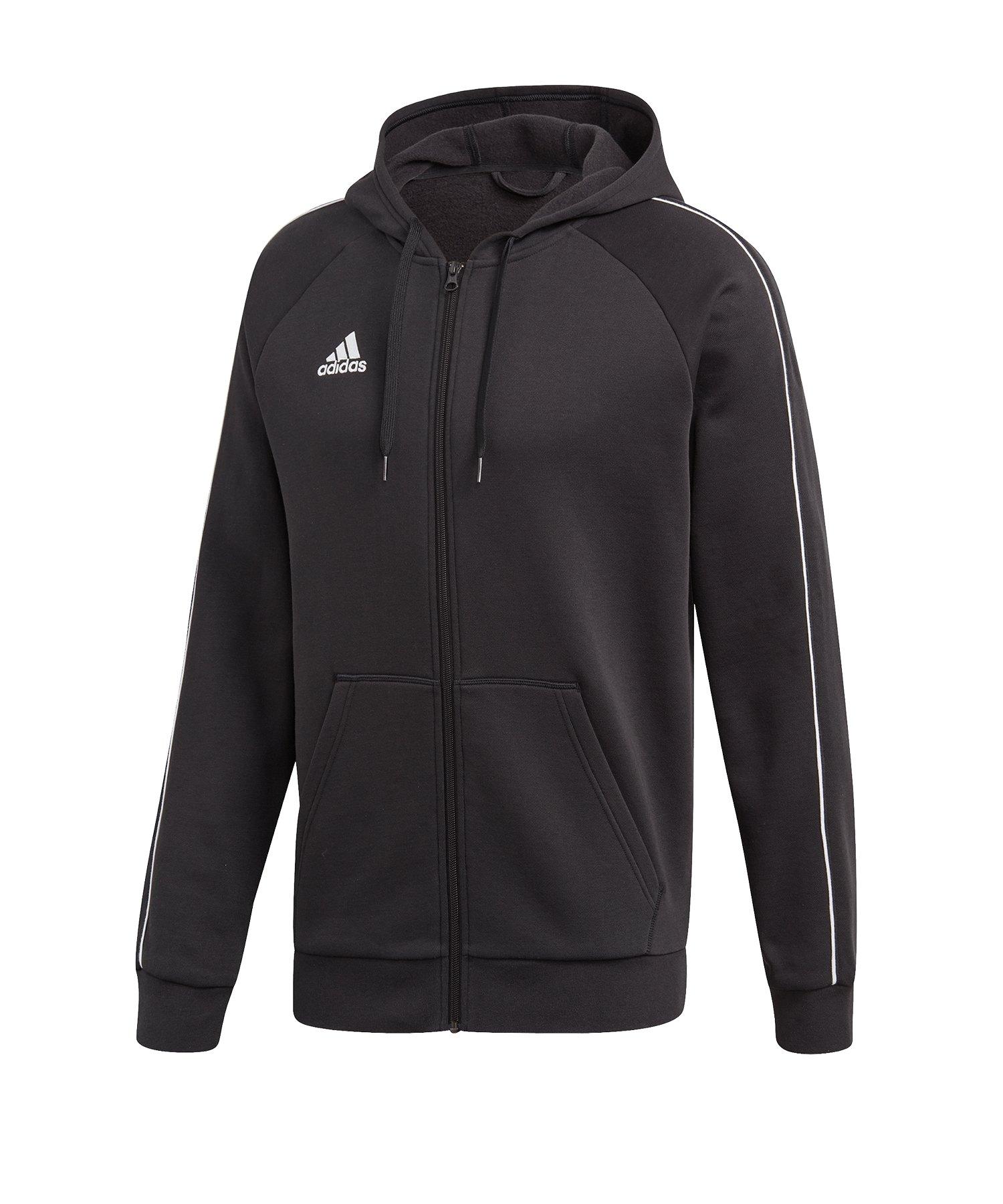 adidas Core 18 Kapuzenjacke Schwarz Weiss - schwarz