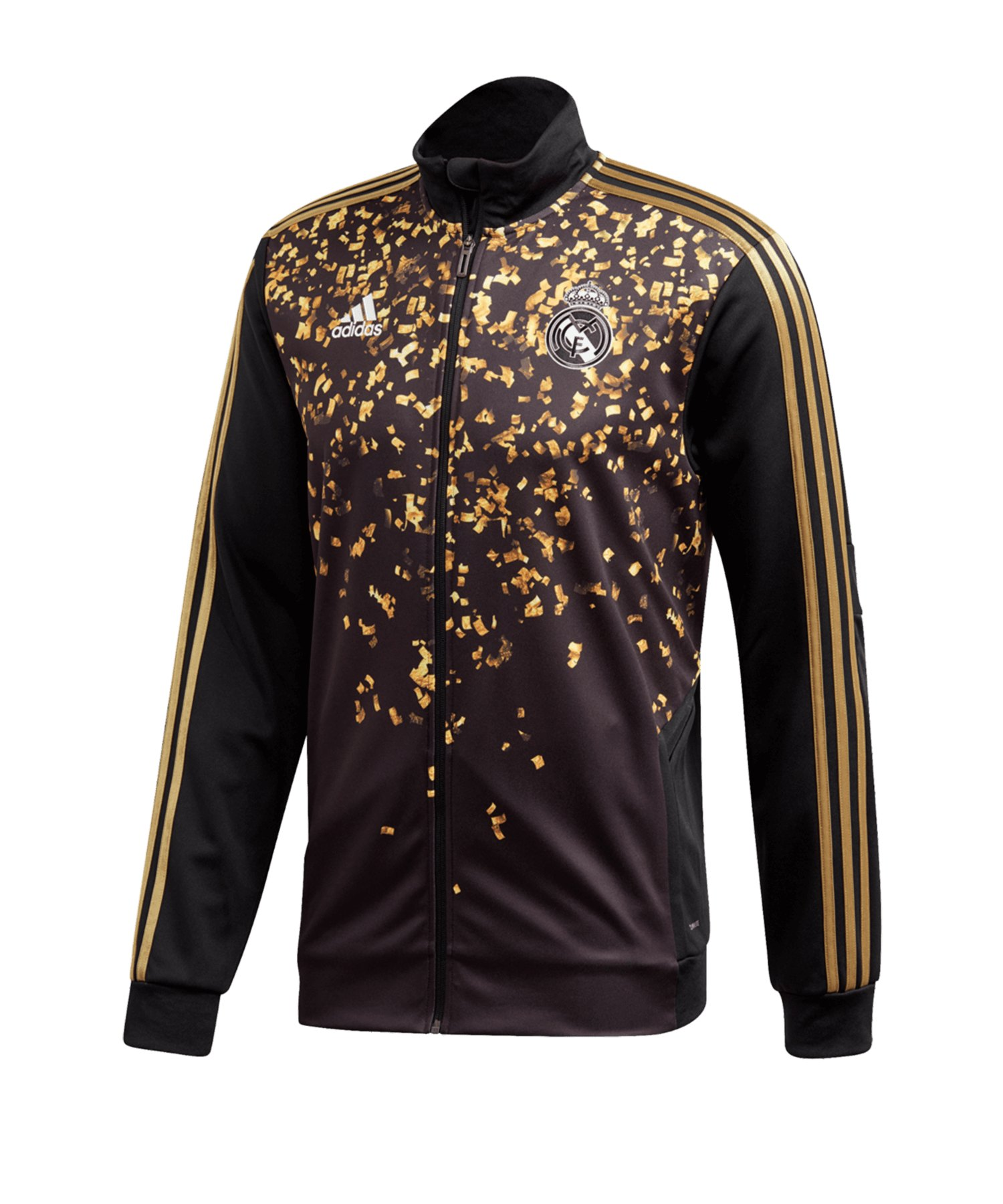 adidas Real Madrid EA Trainingsjacke Schwarz Gold - Schwarz