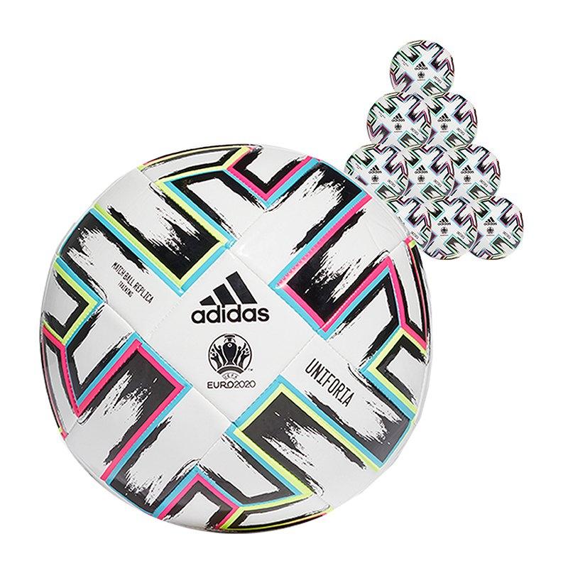 adidas TRN Uniforia Trainingsball 10x Gr. 5 Weiss - weiss