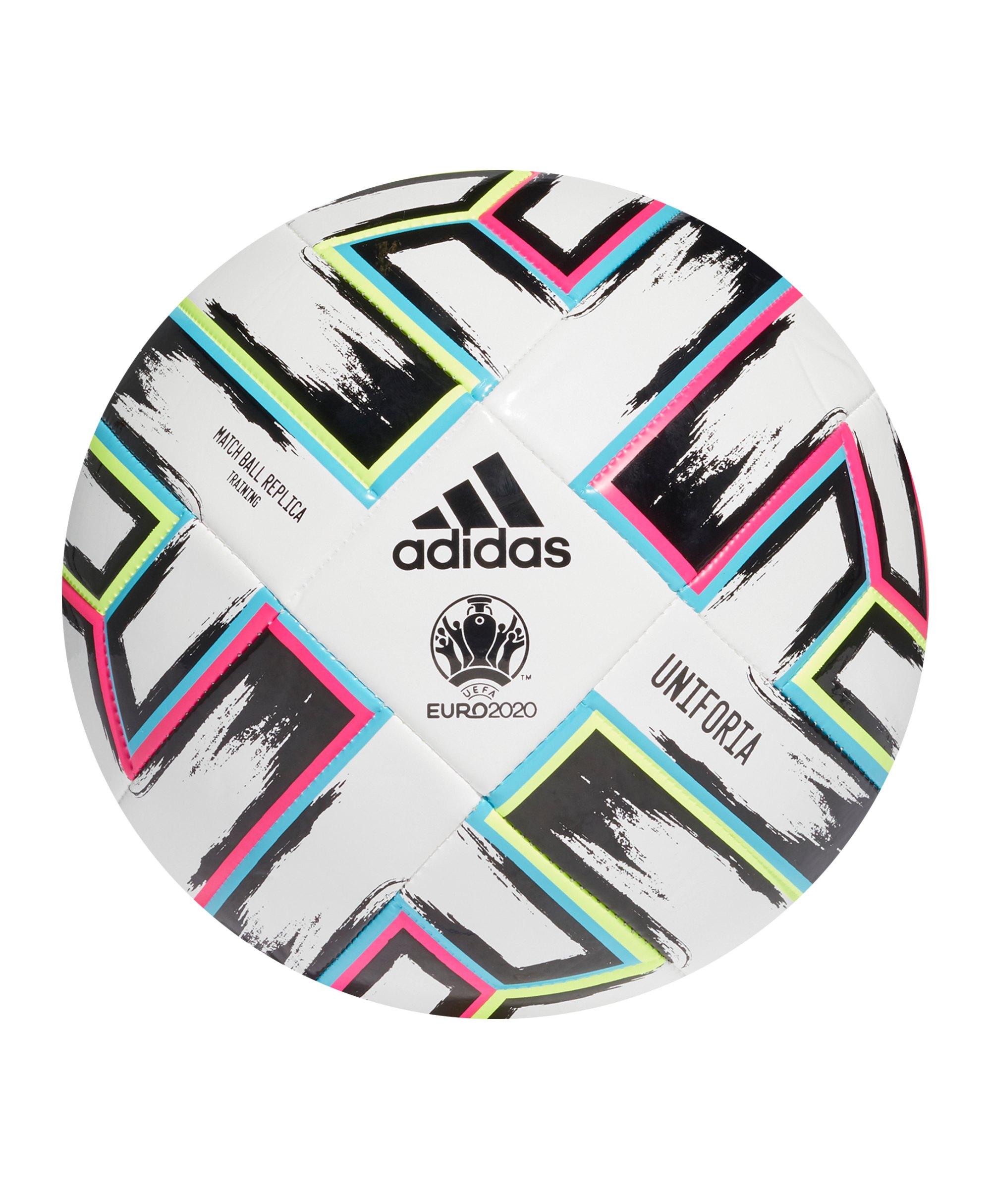 adidas TRN Uniforia Trainingsball Weiss Schwarz - weiss