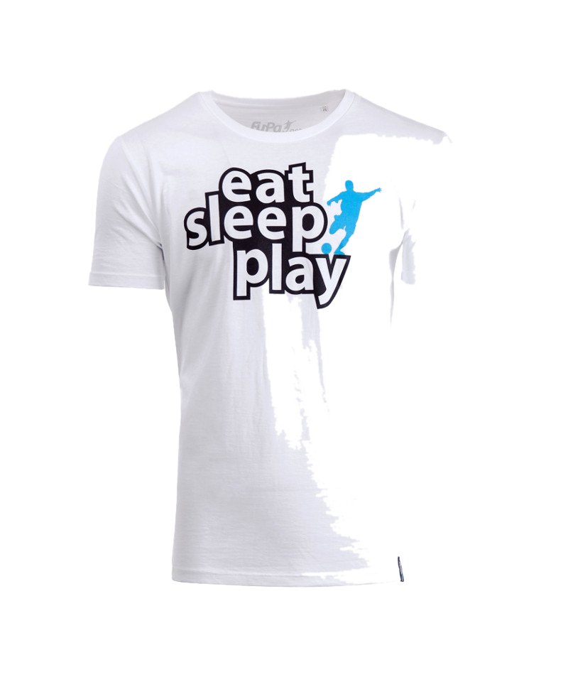 FuPa Shirt Eat Sleep Weiss - weiss