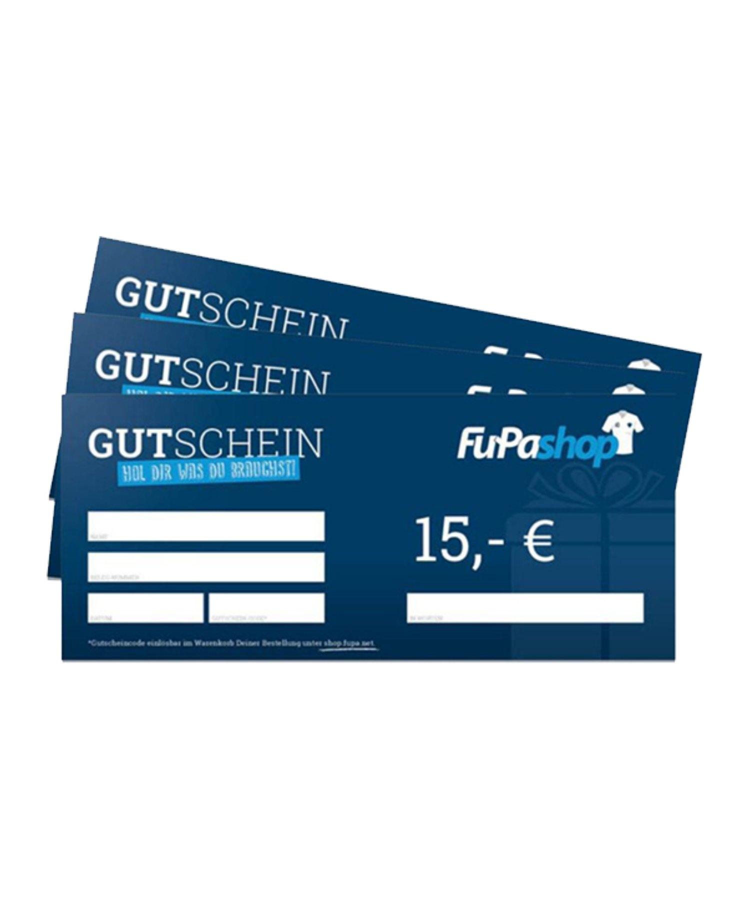 15€ Gutschein - blau