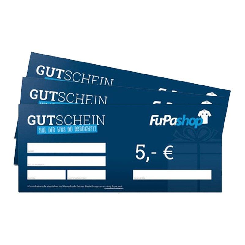 5€ Gutschein - blau