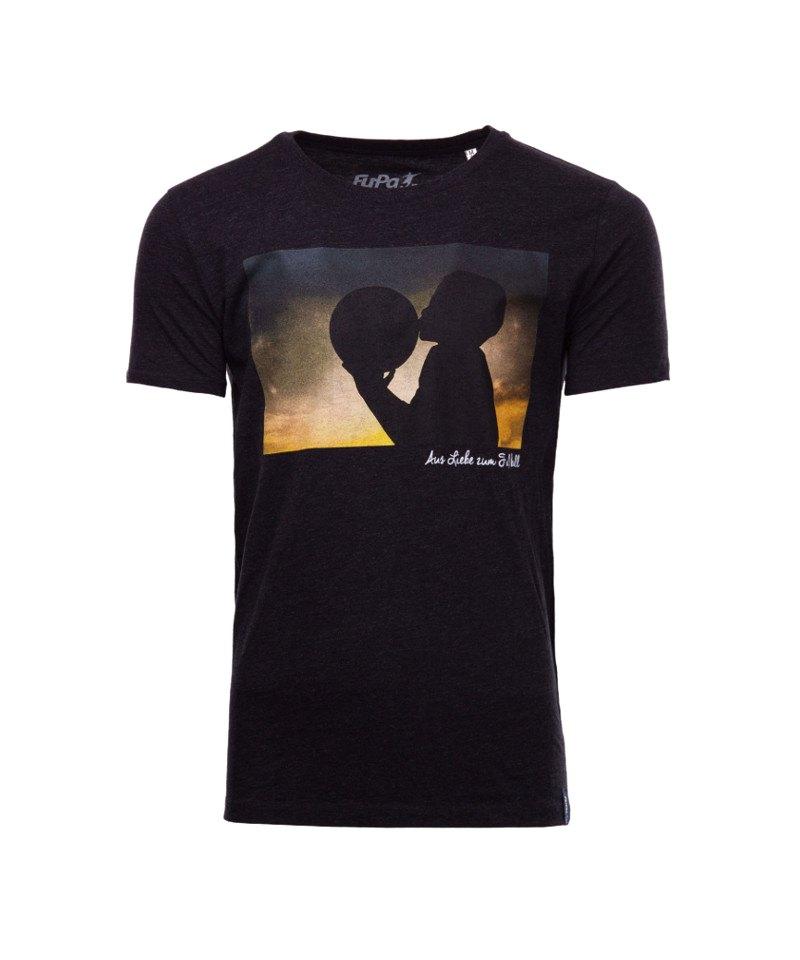 FuPa Shirt Love Football Heather Schwarz Denim - schwarz