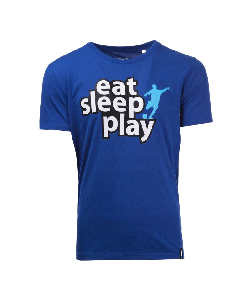 FuPa Shirt Eat Sleep Play Royal Blau - blau