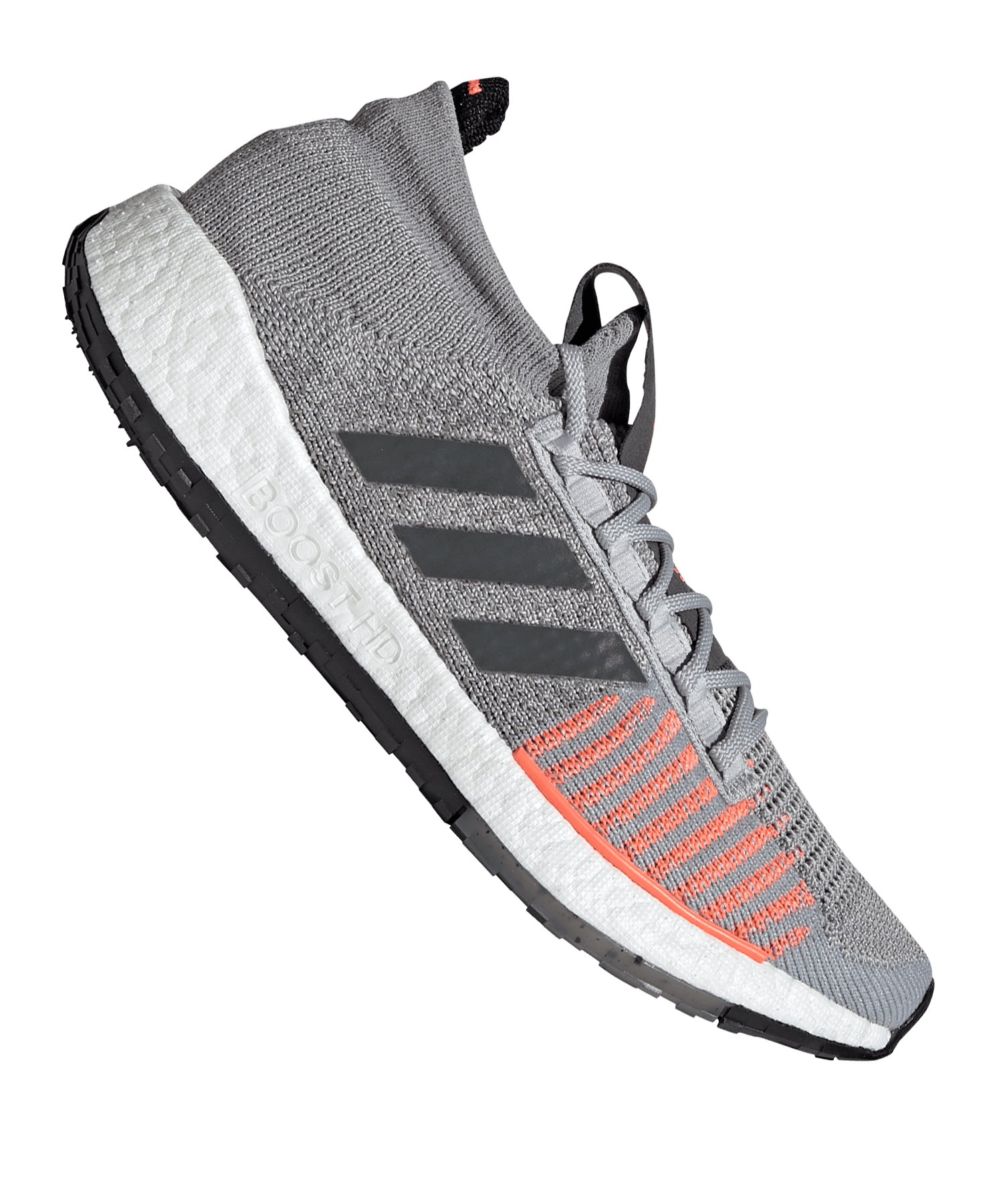 adidas Pulse Boost HD Running Grau Rot - grau