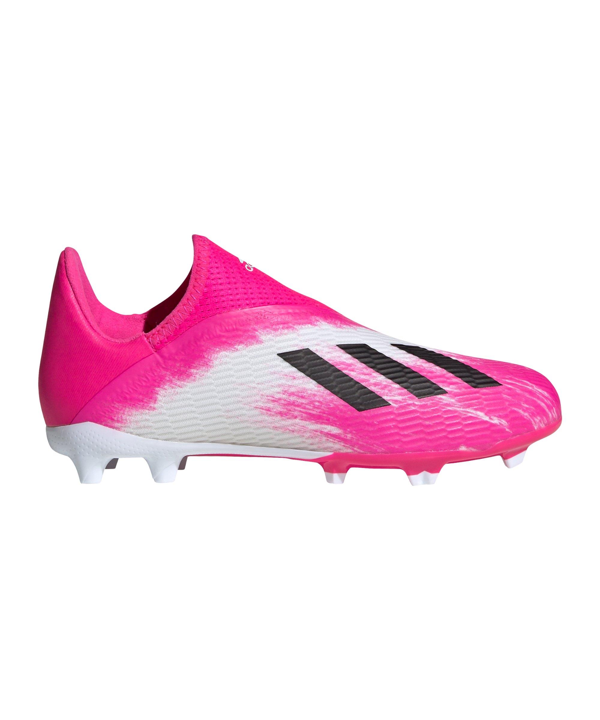 adidas X 19.3 LL FG J Kids Weiss Pink - weiss